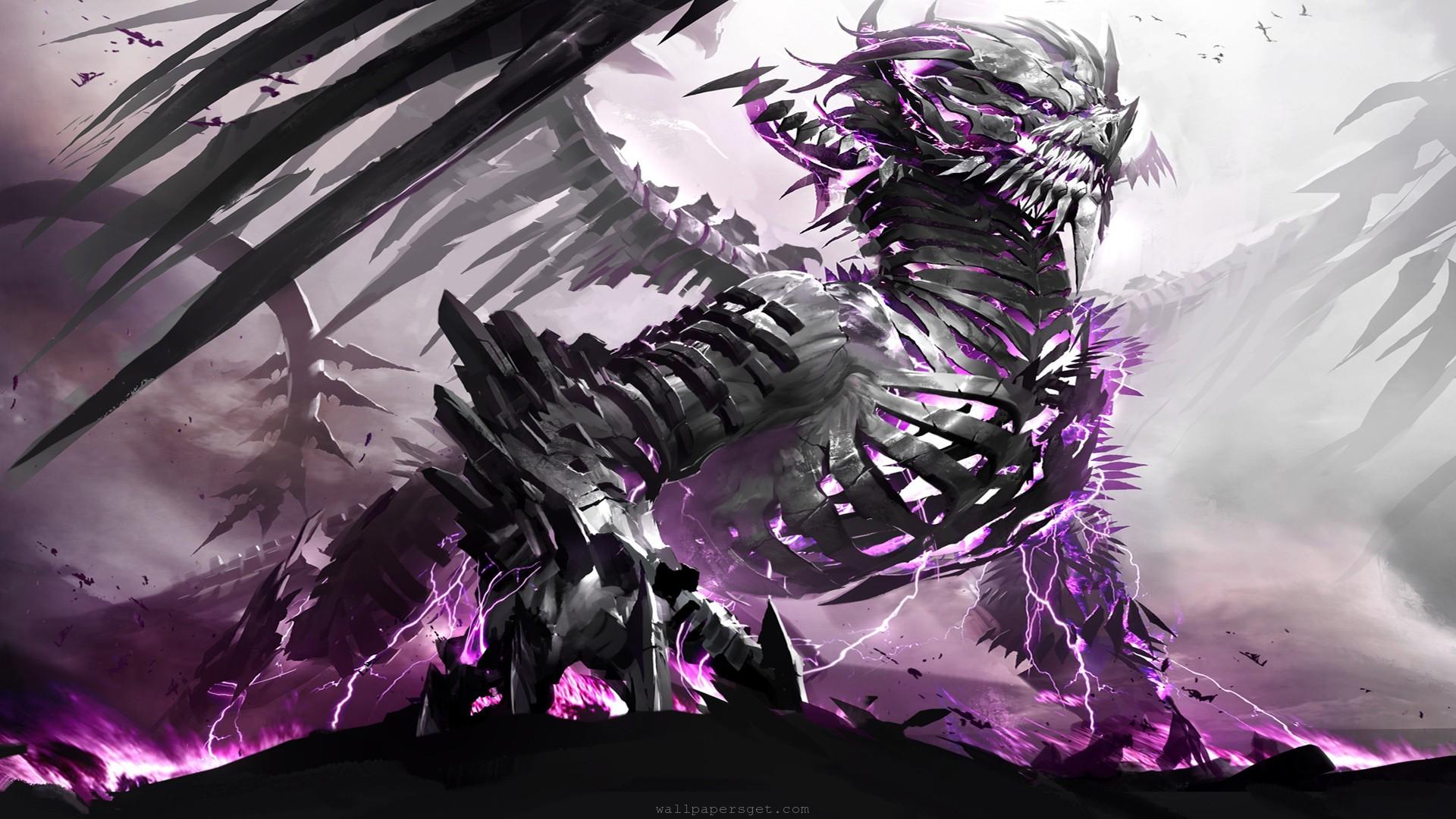 Purple Dragon HD Desktop Wallpaper   HD Desktop Wallpaper