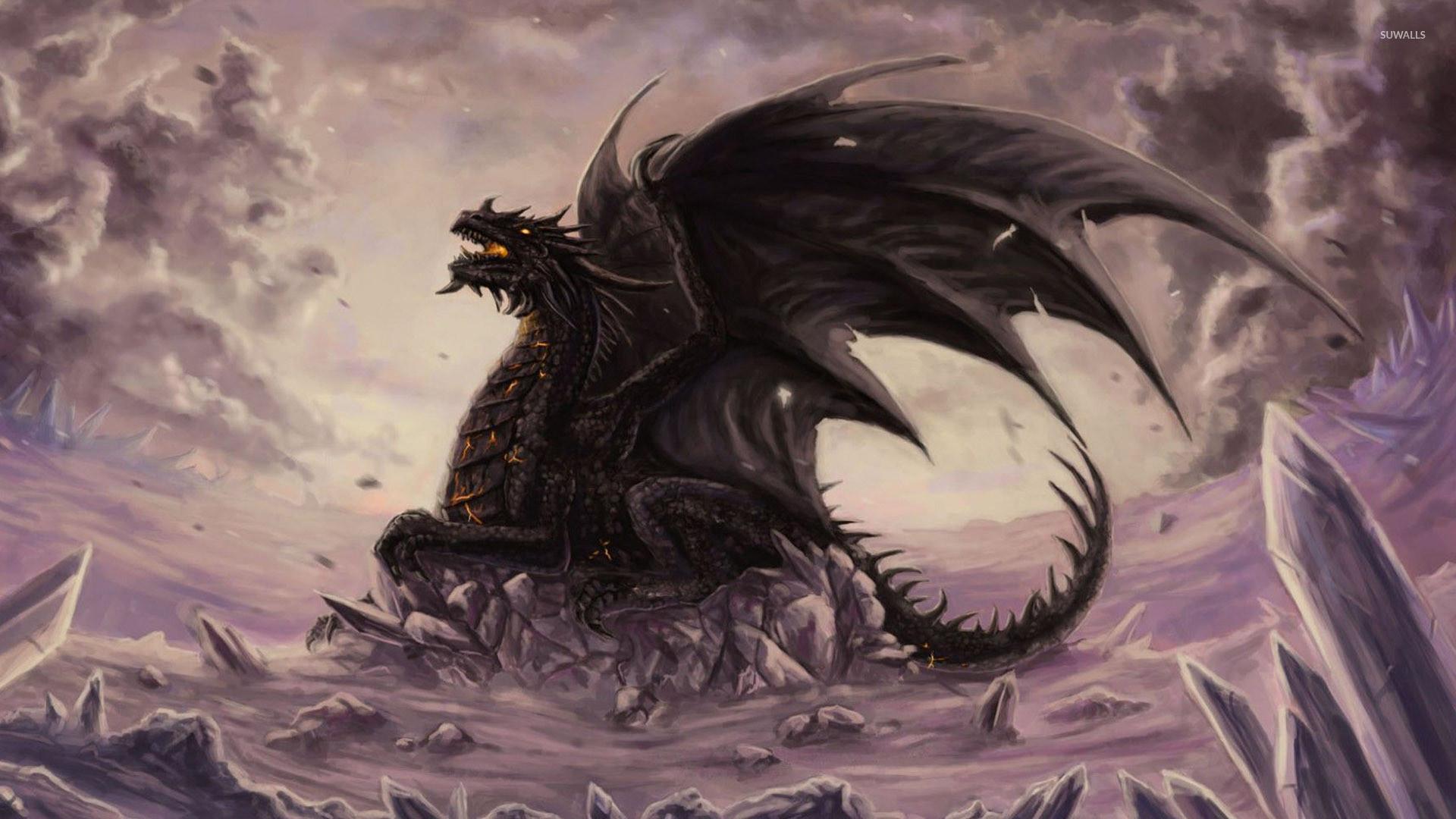Dragon on the cliff wallpaper jpg