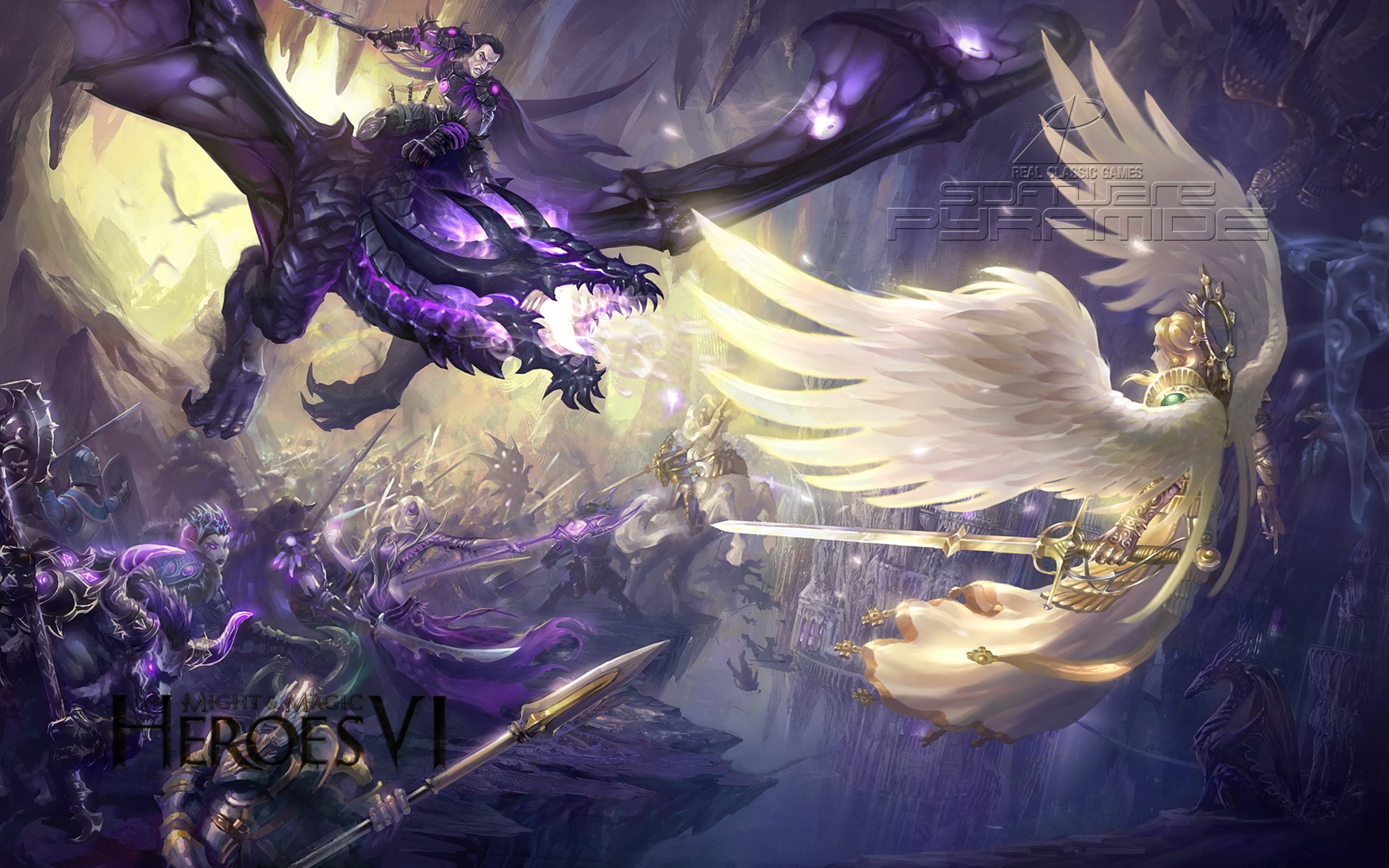 HEROES MIGHT MAGIC strategy fantasy fighting adventure action online 1hmm  warrior battle angel dragon wallpaper     622576   WallpaperUP