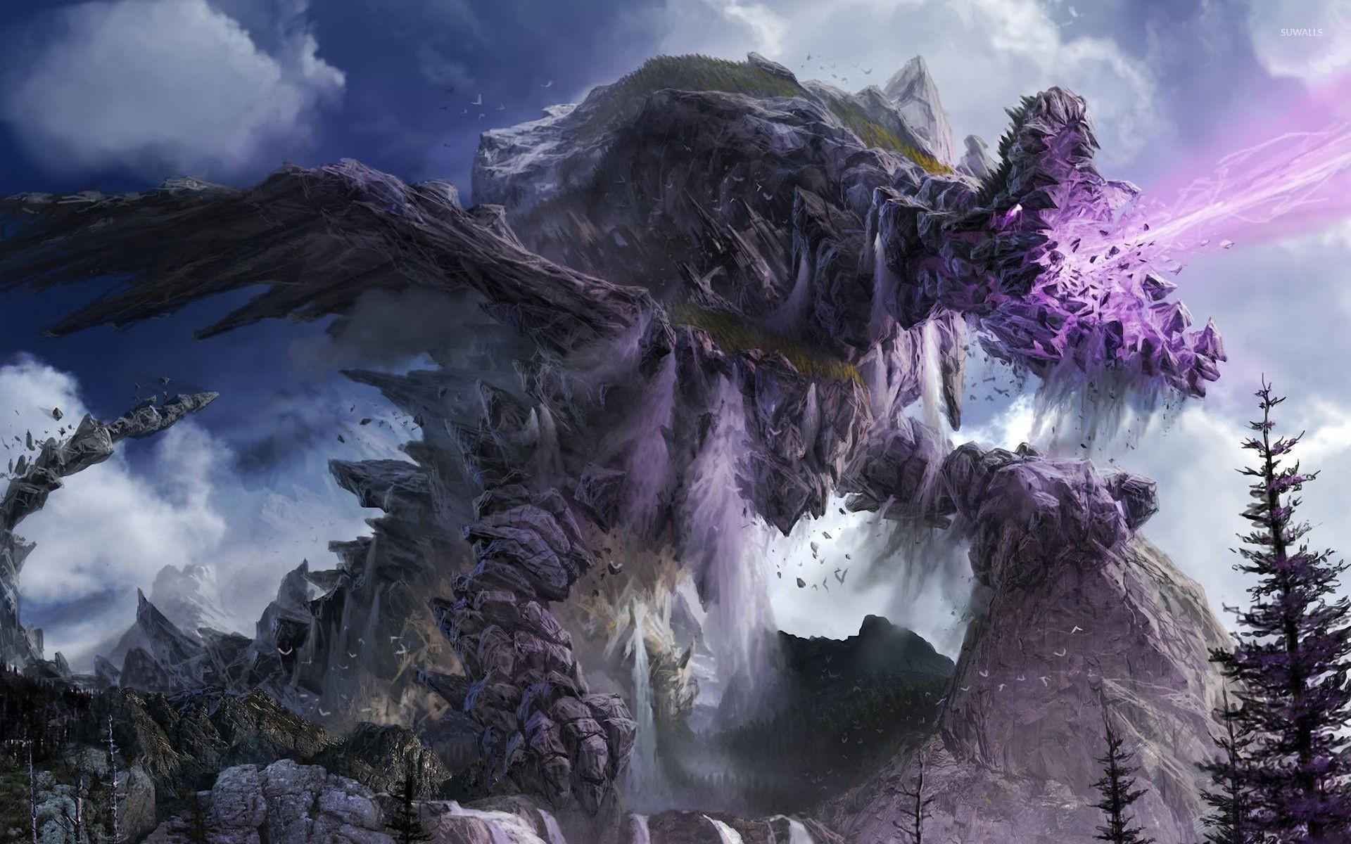 Stone dragon wallpaper jpg