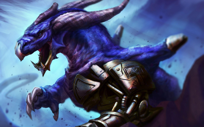 Angry purple dragon