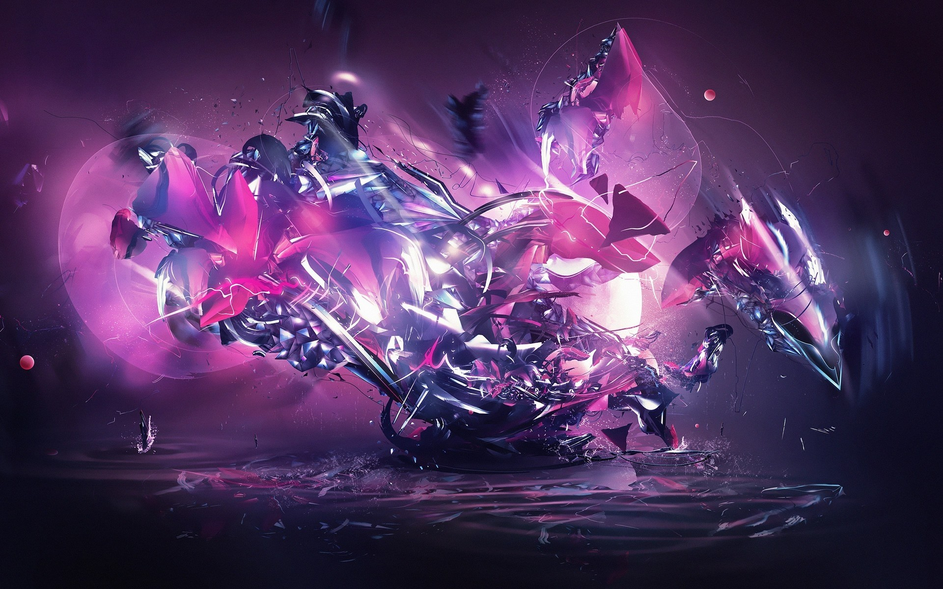 Dragon Explosion Pink Abstract wallpapers   Dragon Explosion Pink .