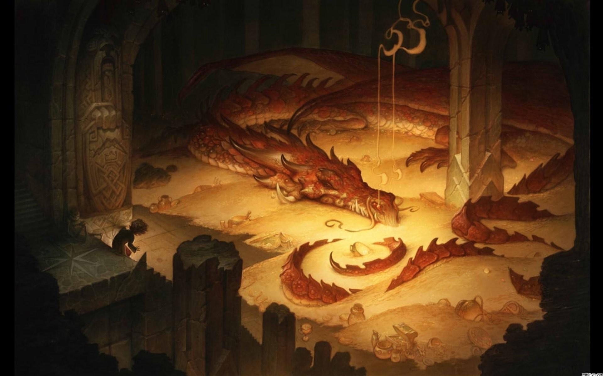 the hobbit hobbies gollum thorin gandalf bilbo swords HD wallpaper 1920×1200