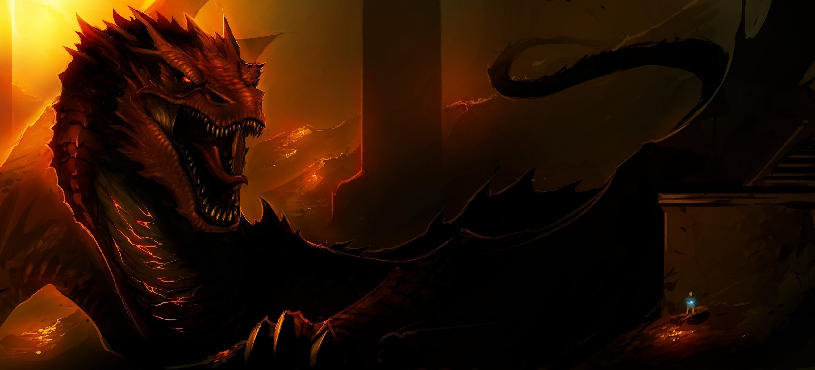 smaug lord of the rings fire dragon art the hobbit the hobbit: the  desolation of
