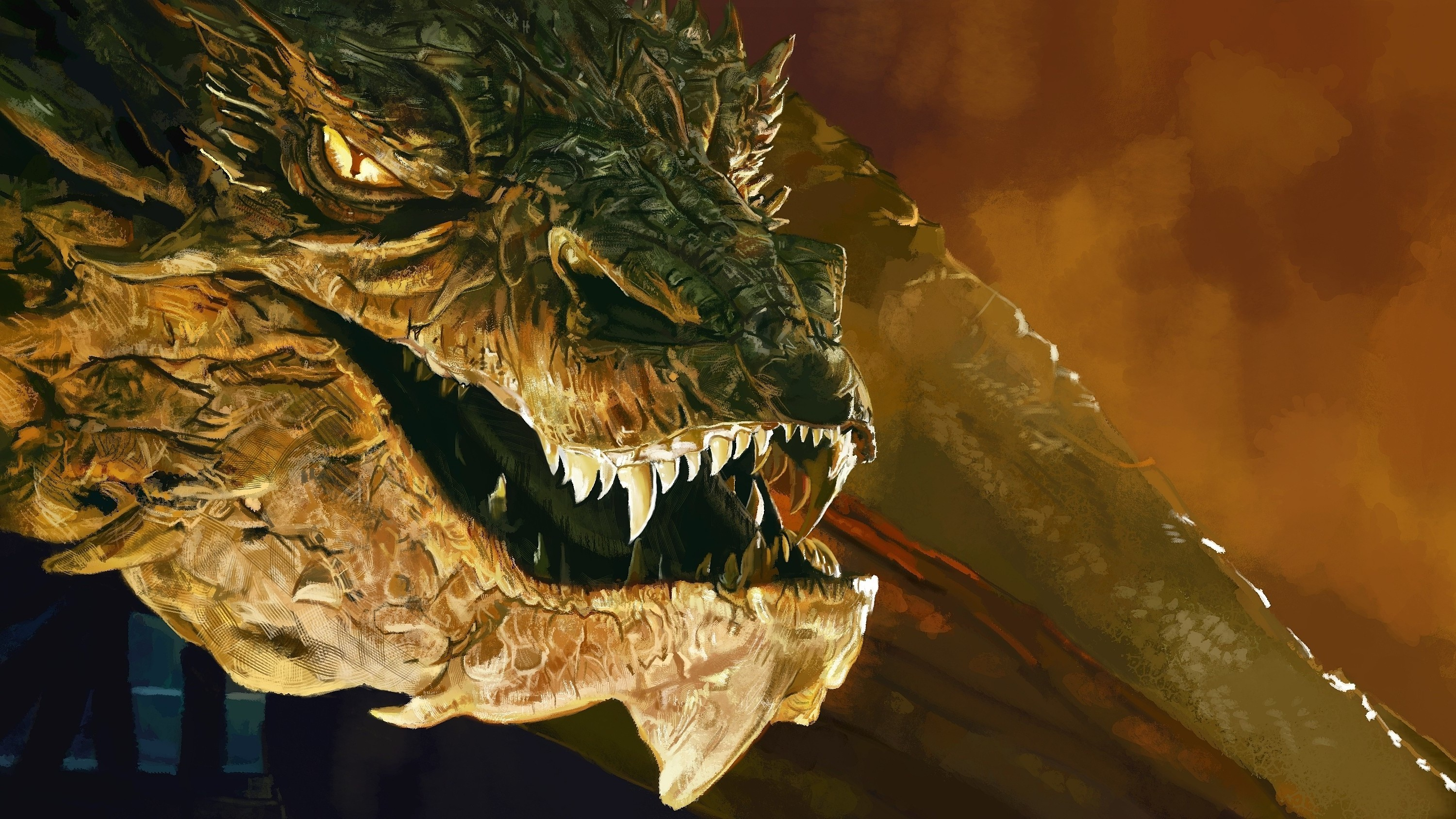 Smaug, The Hobbit: The Desolation Of Smaug, Dragon, Benedict Cumberbatch Wallpapers  HD / Desktop and Mobile Backgrounds