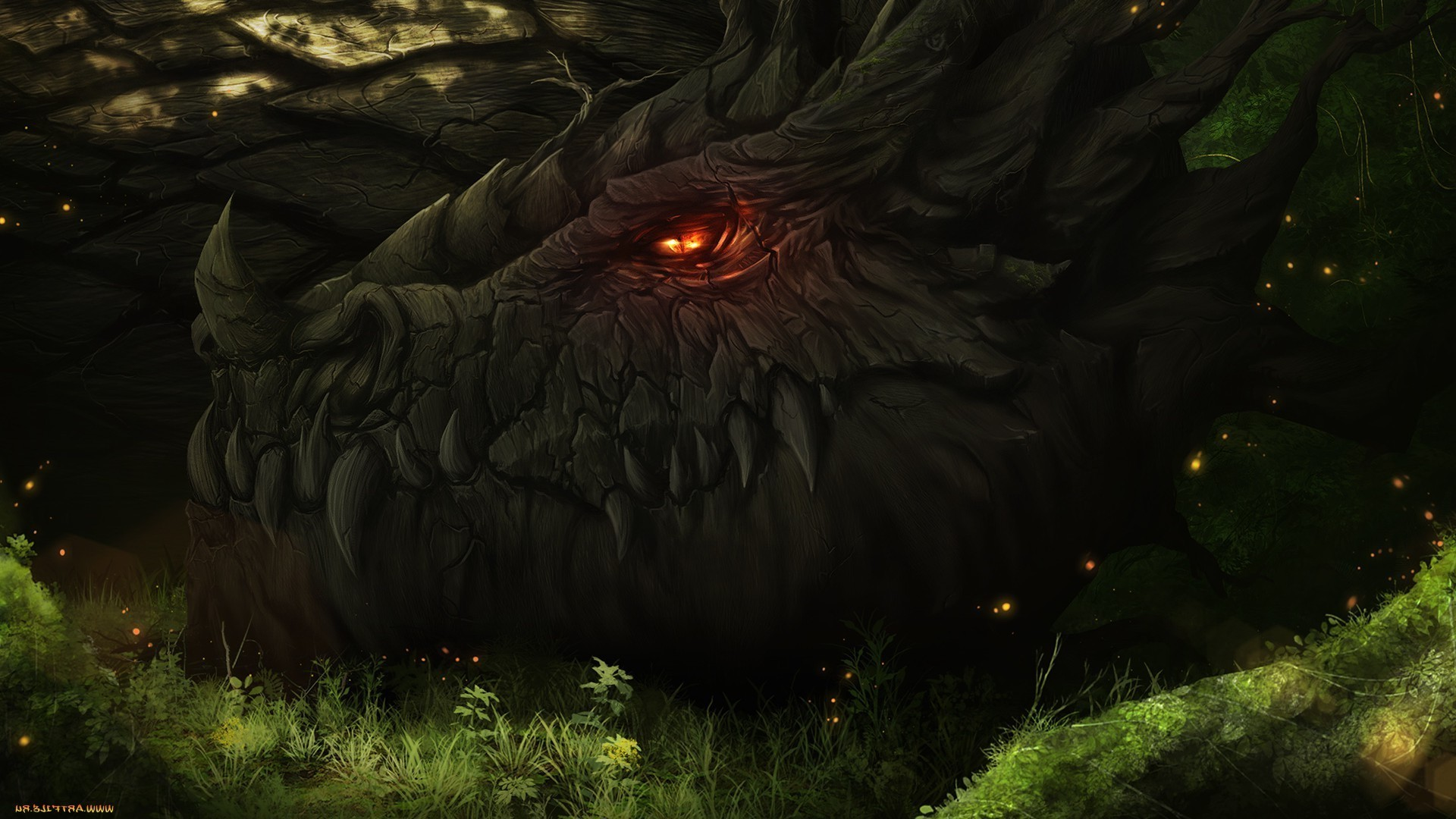 dragon, Forest, Artwork, Fantasy Art, Smaug Wallpapers HD / Desktop and  Mobile Backgrounds