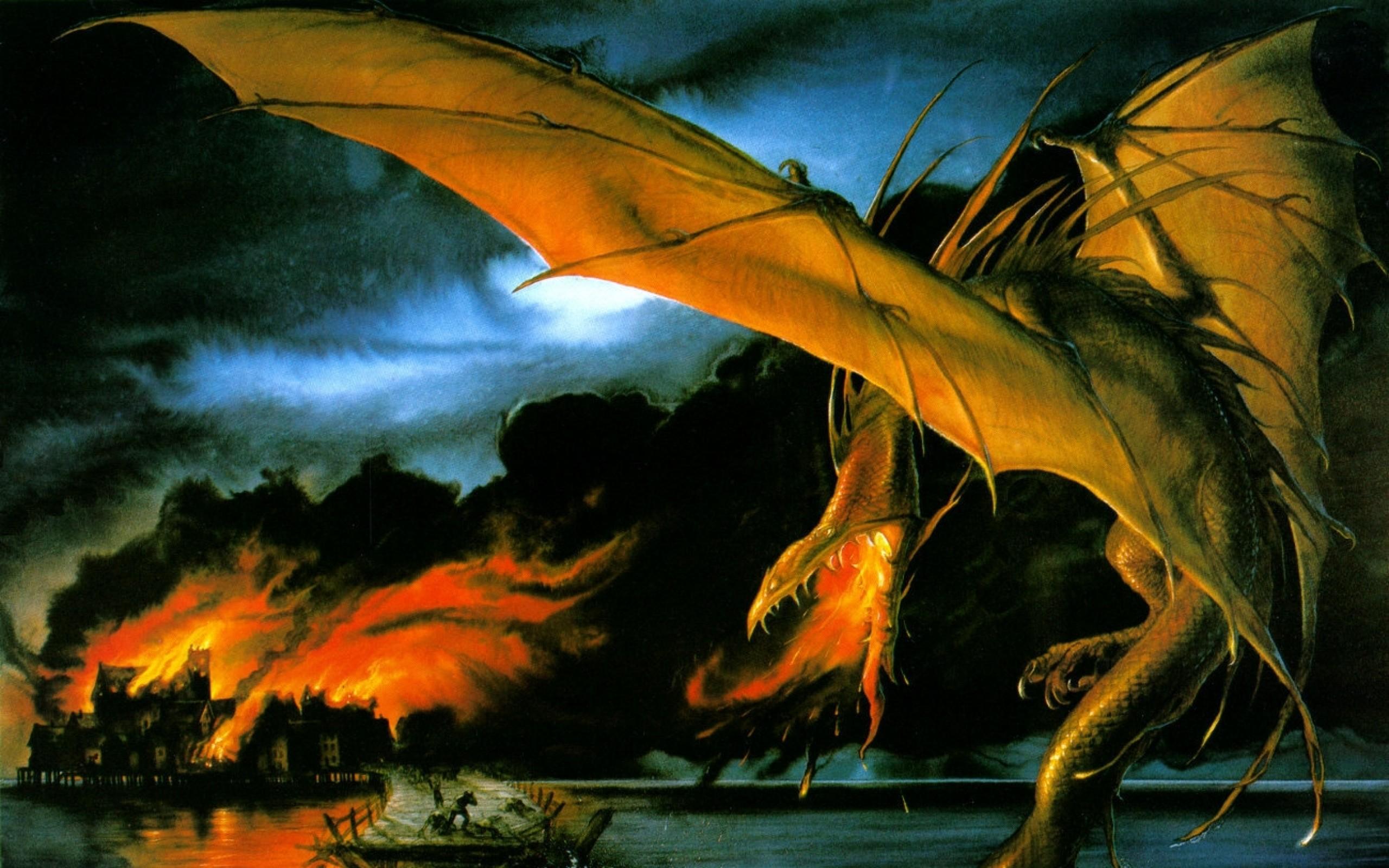 dragons fantasy art jrr tolkien smaug john howe 1300×969 wallpaper Art HD  Wallpaper