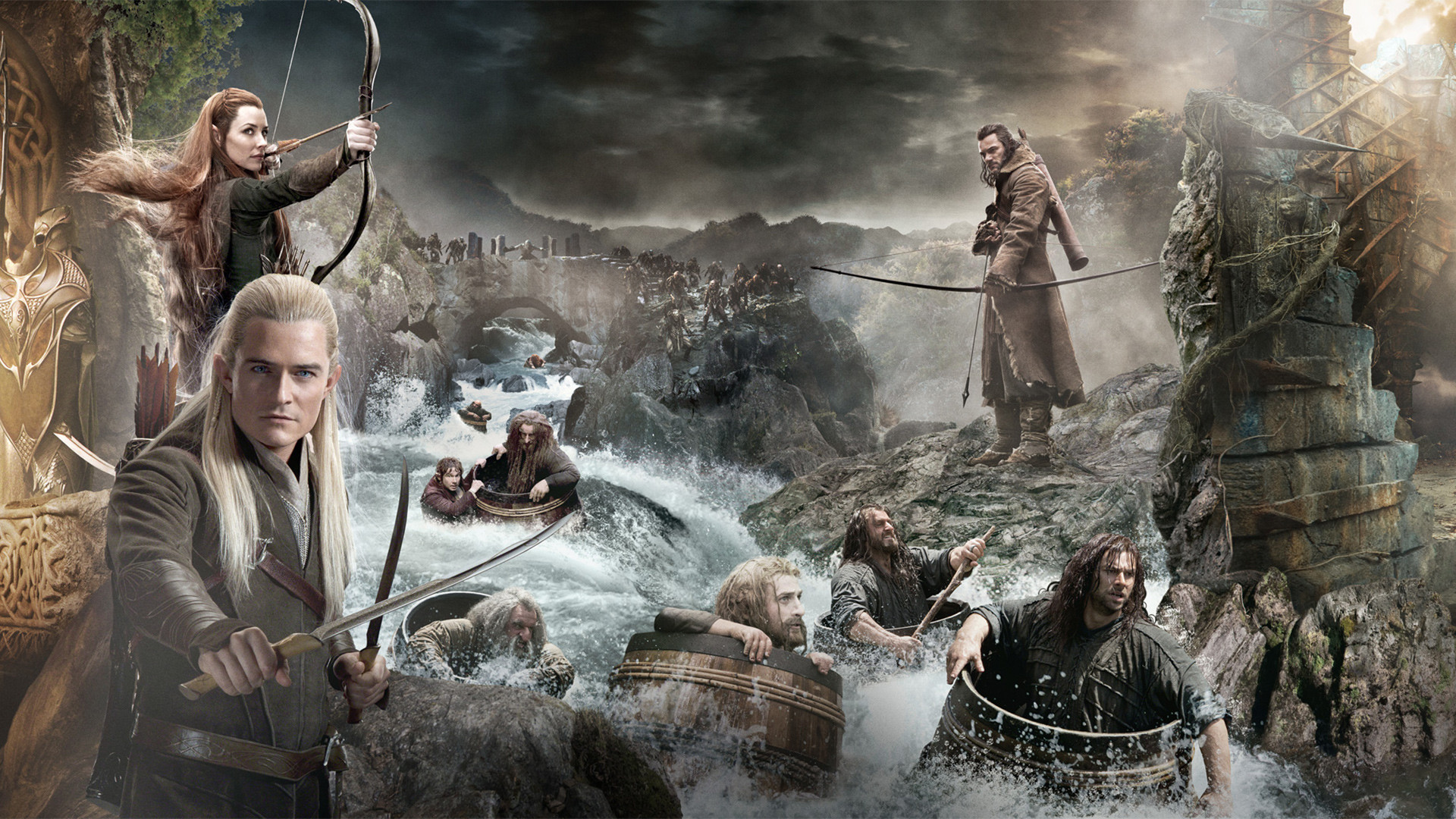 The Hobbit: The Desolation of Smaug Characters desktop PC and Mac  wallpaper