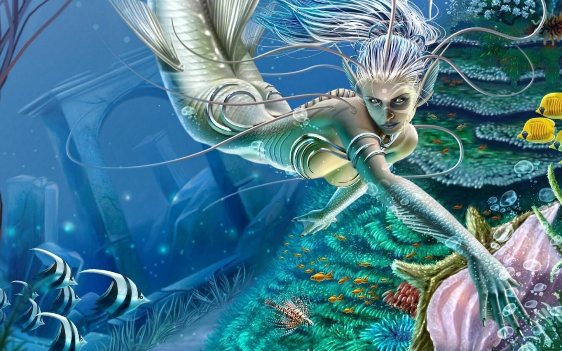 Mermaid Desktop Backgrounds – Wallpaper, High Definition, High Quality .