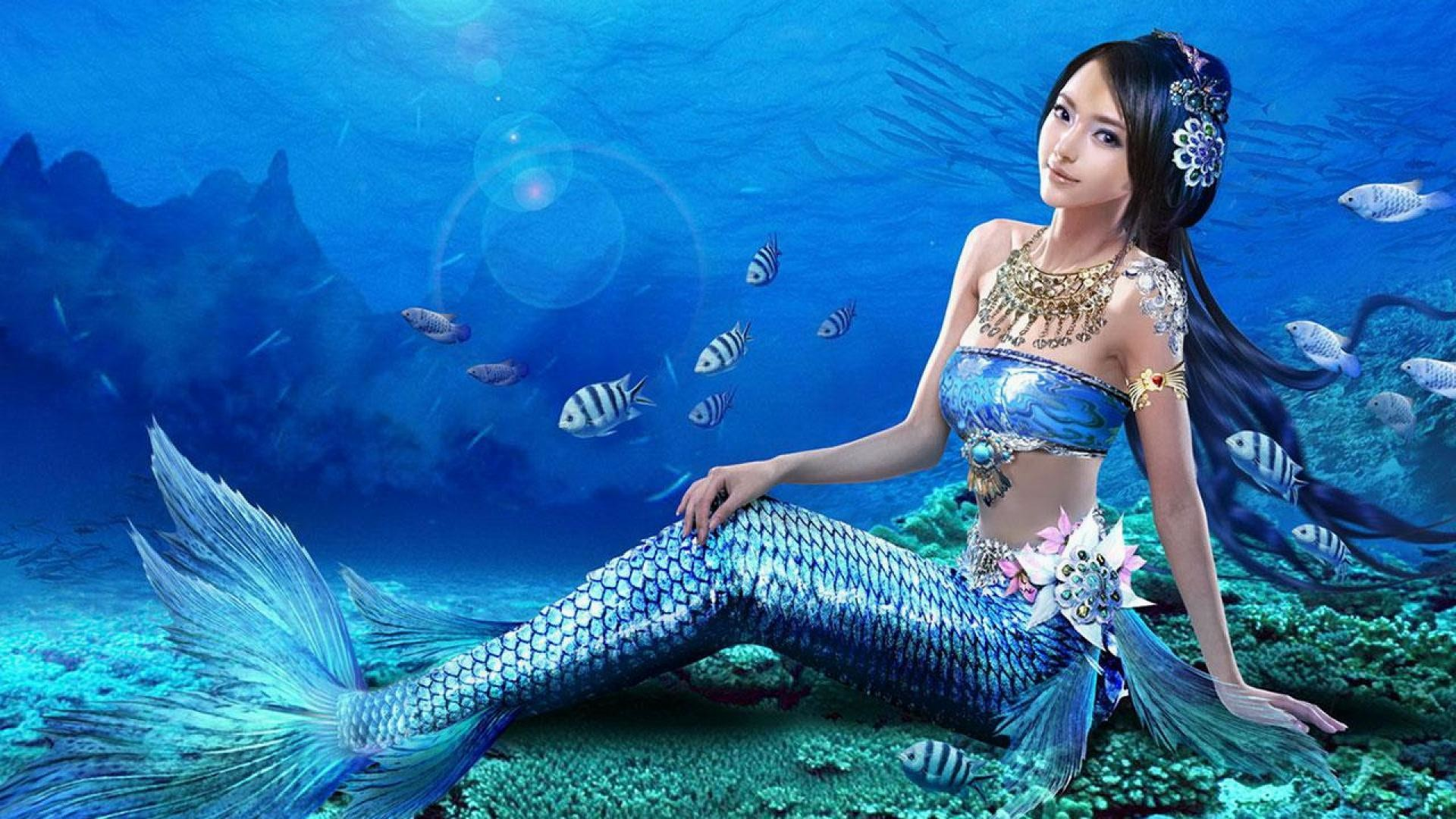 wallpaper.wiki-Mermaid-Wallpaper-HD-For-Desktop-PIC-
