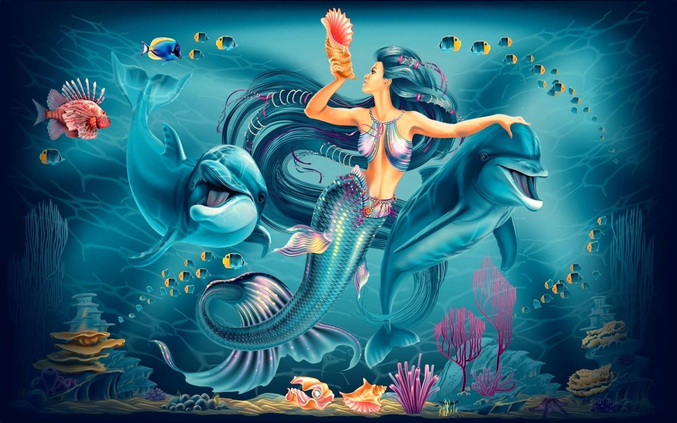 Download Beauty Mermaid Wallpaper HD Picture 36953 Label: Beauty .