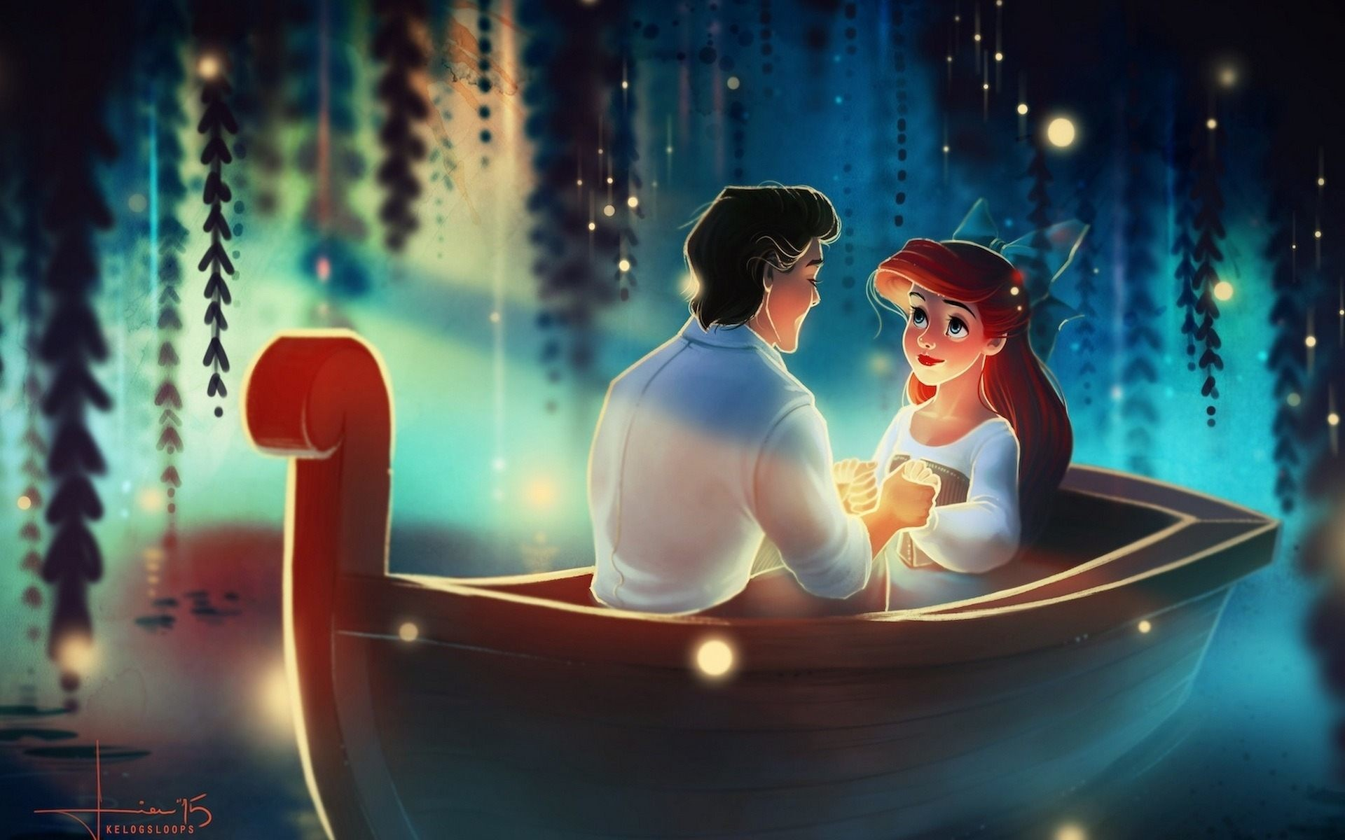 … Ariel and Eric The Little Mermaid Movie Wallpaper HD Download