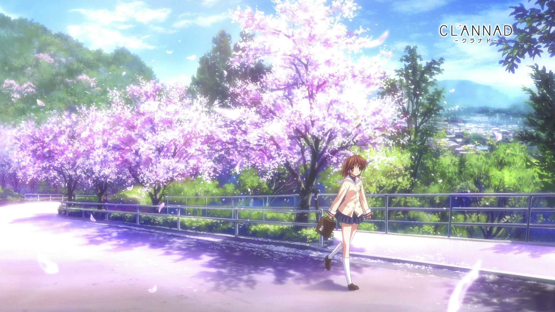 Cherry Blossoms Wallpaper Cherry, Blossoms, Clannad .