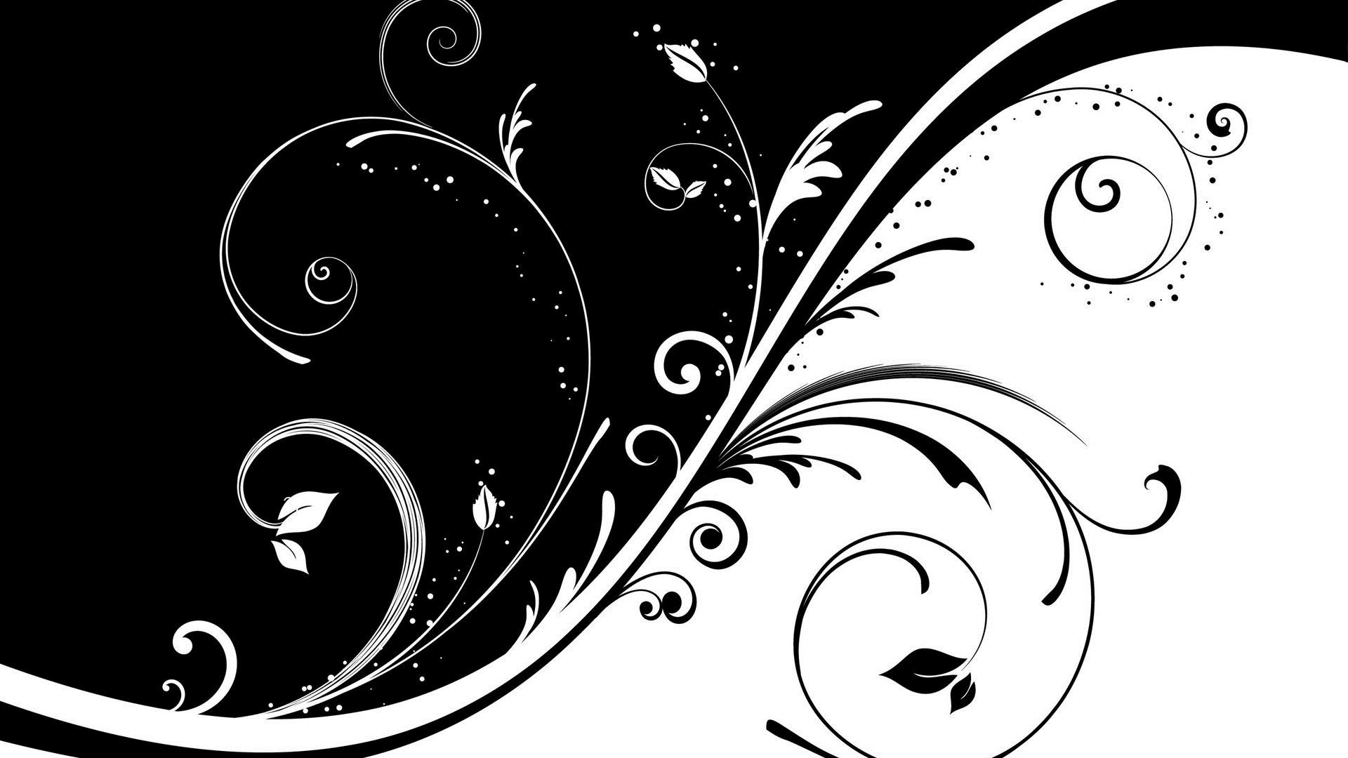 Abstract Art Black And White Roses