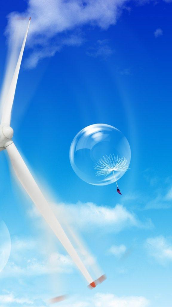 Wallpaper parachute, dandelion, sky, blow