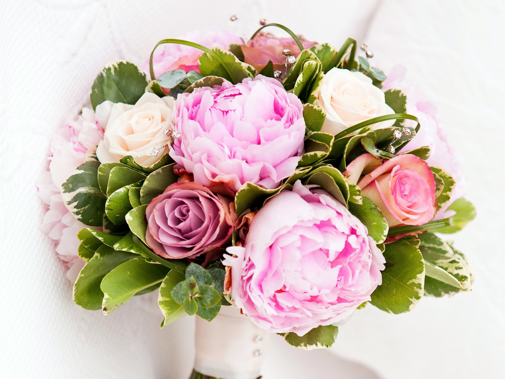 Bouquets Peonies Roses Flowers Wallpapers and photos