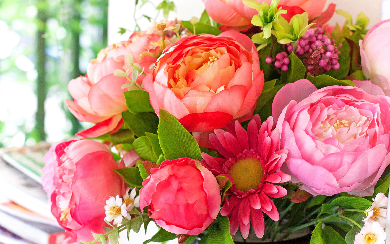 Wallpapers Bouquets Gerberas Flowers Peonies 2880×1800