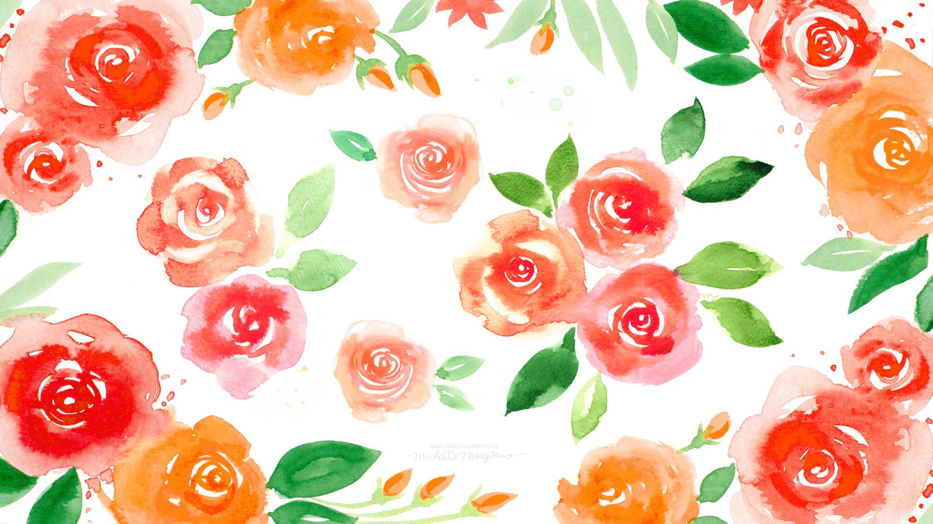 … abstract flowers wallpapers group 79; october watercolor calendar  desktop download mospens studio …