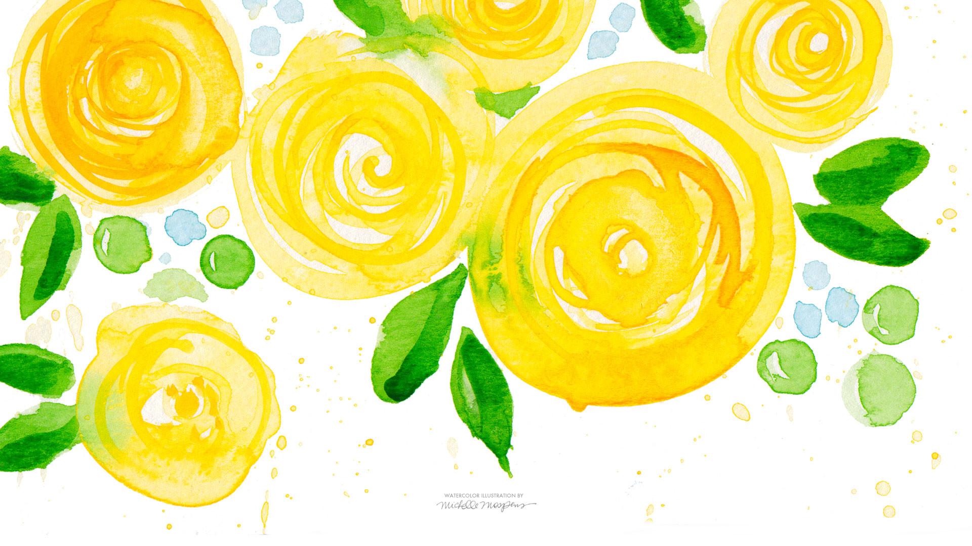47 Watercolor Flowers