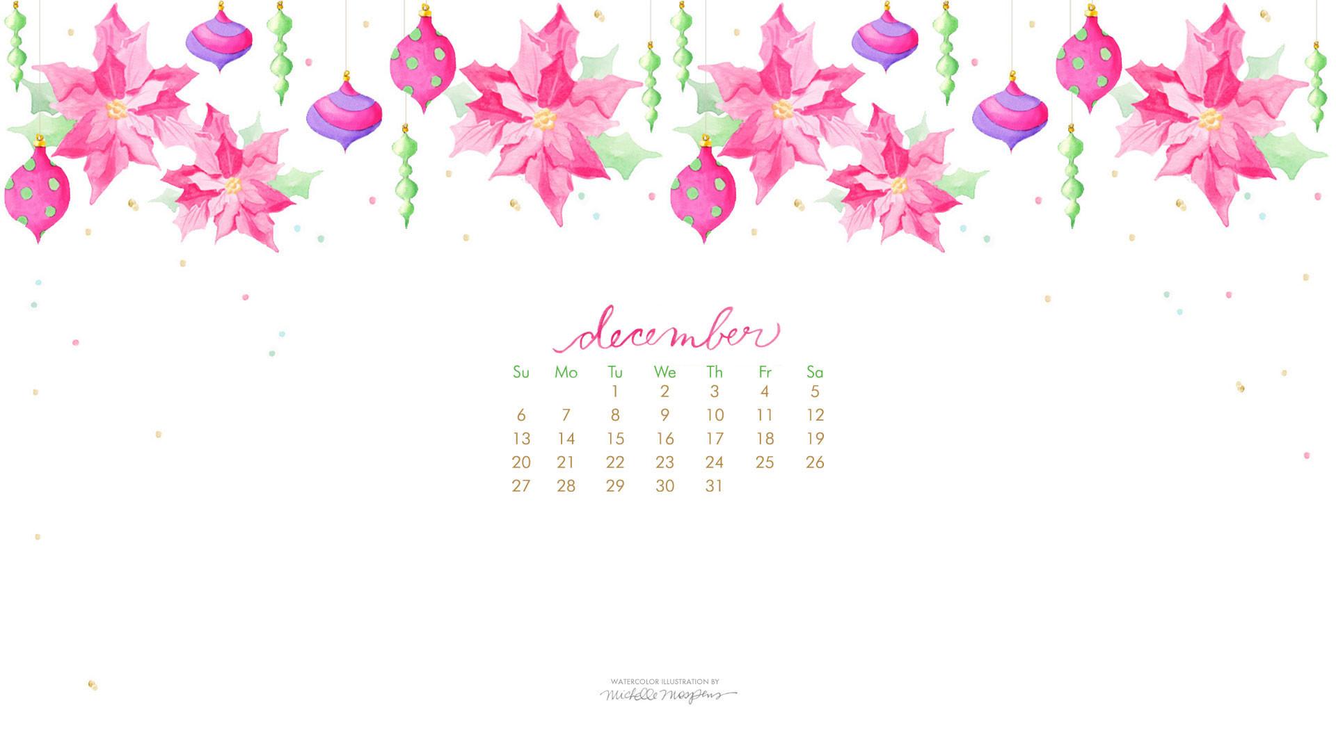 [ Download December Calendar 1920 x 1080 Wallpaper ]