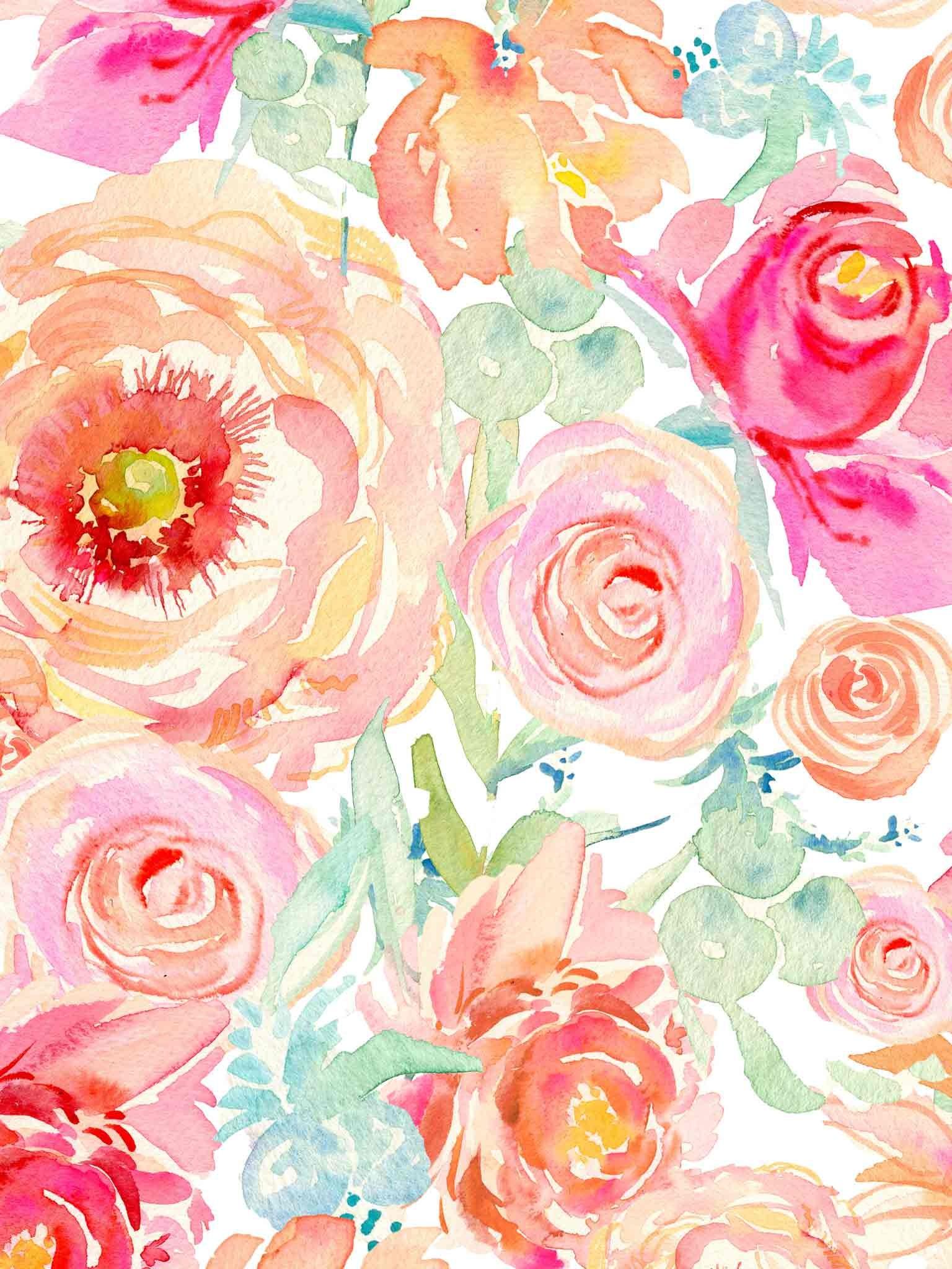 floral watercolor wallpaper – Google Search