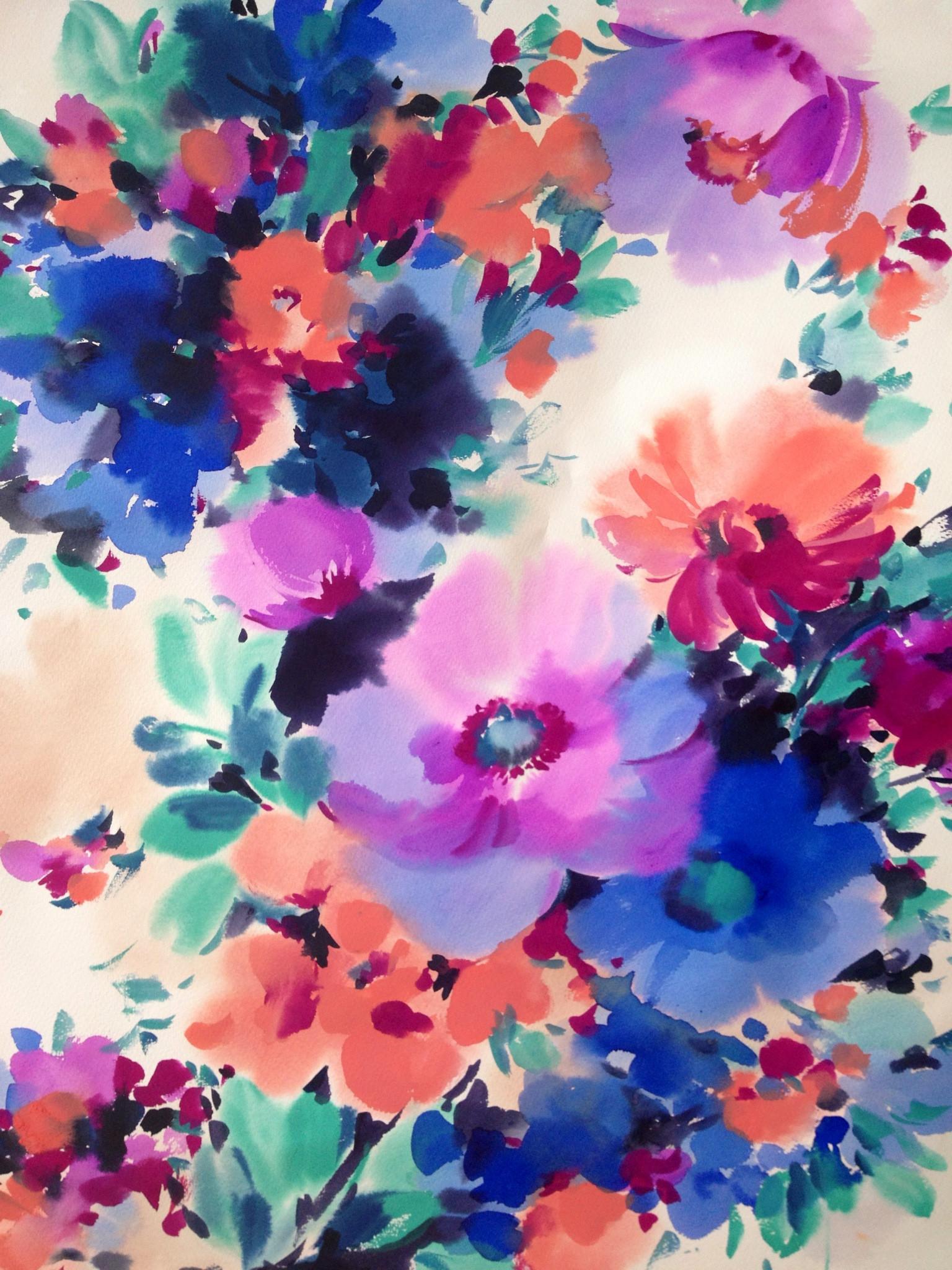 Watercolor pattern design · Watercolor WallpaperWatercolor PatternWatercolour  FlowersWatercolour …