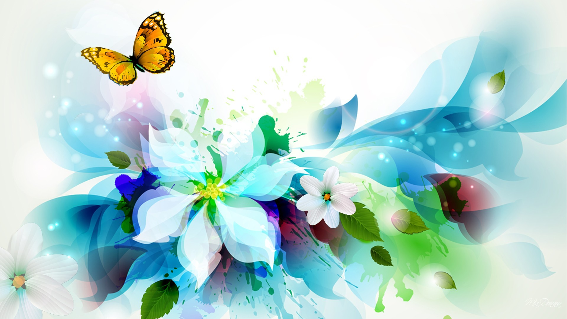 Watercolor Floral Abstract HD Desktop Background wallpaper free