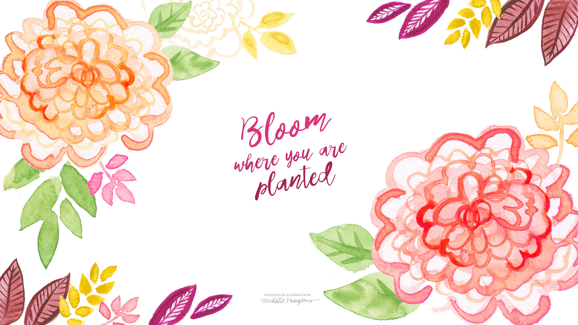 """[ Download """"Bloom where you are planted"""" Wallpaper ] …"""