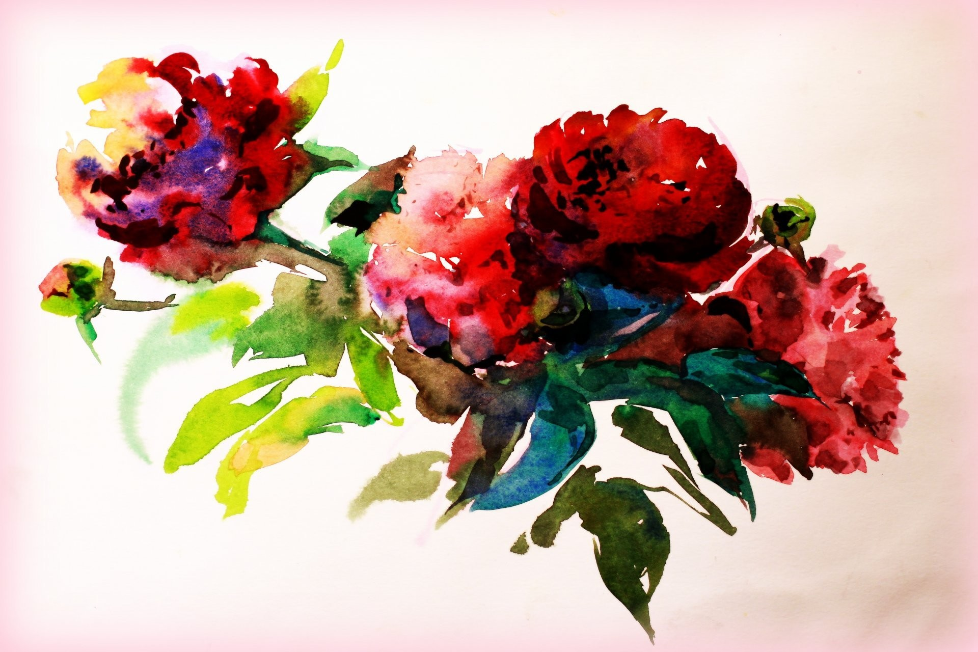 watercolor painting picture paint flower creativity drawing paper