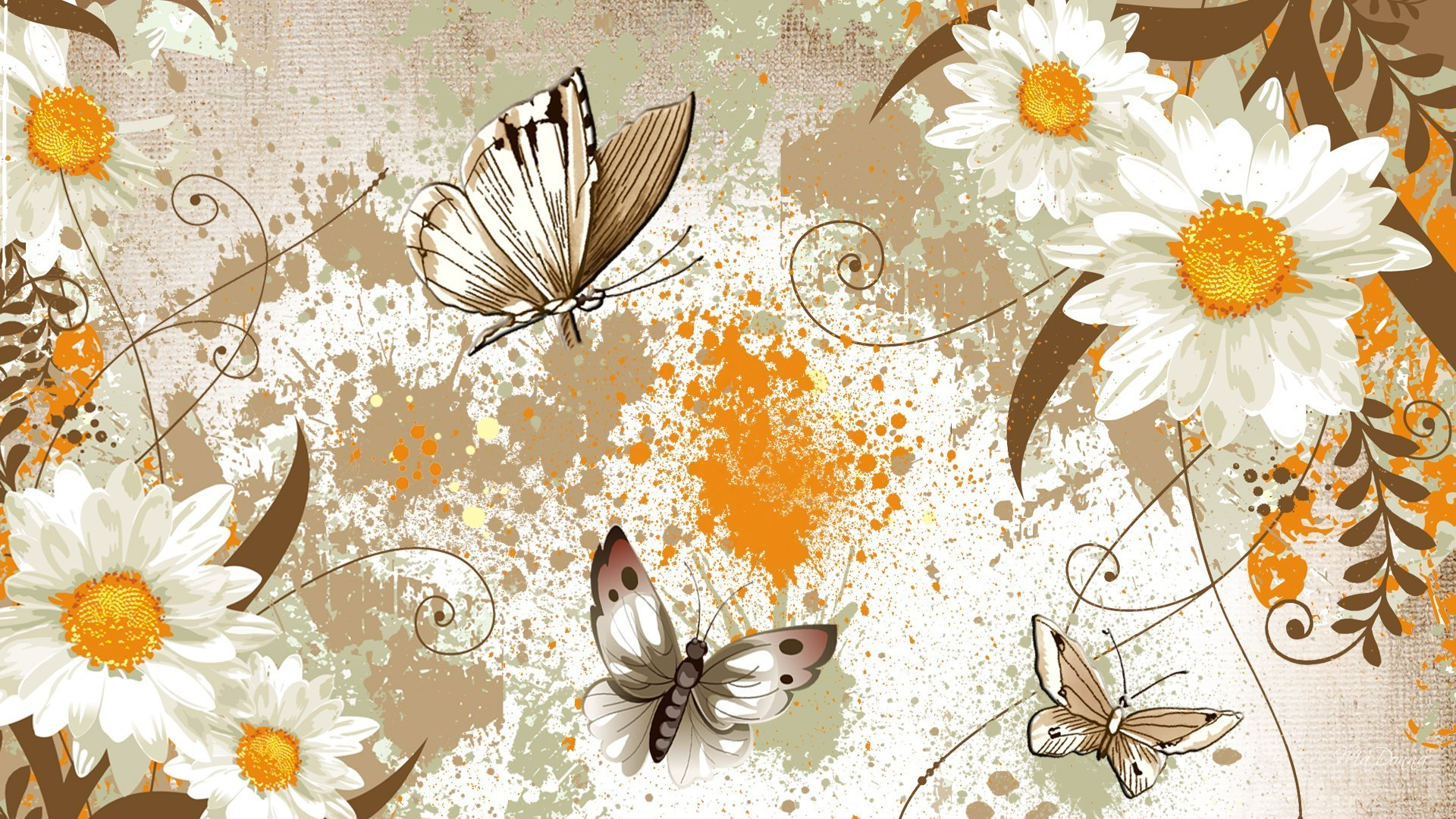 Splatter Tag – Flowers Health Butterflies Yellow Paint Appeal Fragrant Gold  Aroma Papillon Aromatic Herb Brown