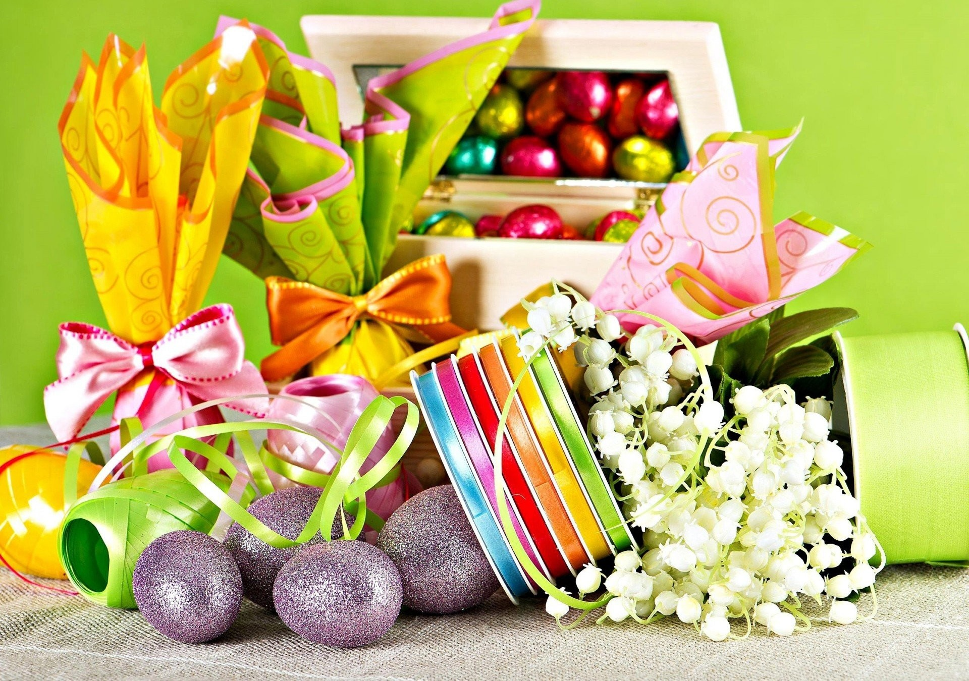 easter lily of the valley eggs