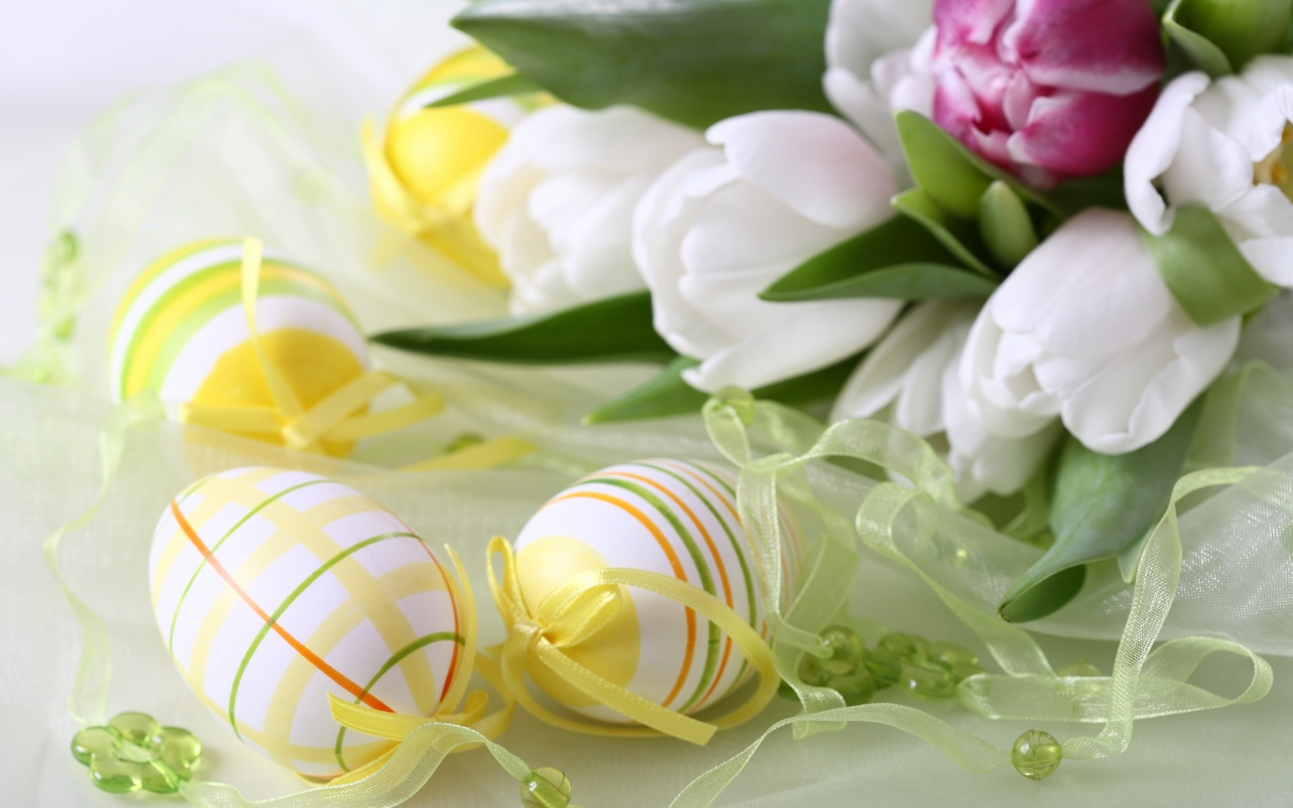 Easter Tulips and Decorations wallpaper