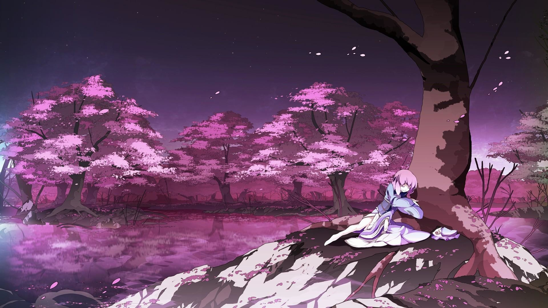 wallpaper.wiki-HD-Anime-Cherry-Blossom-Background-PIC-