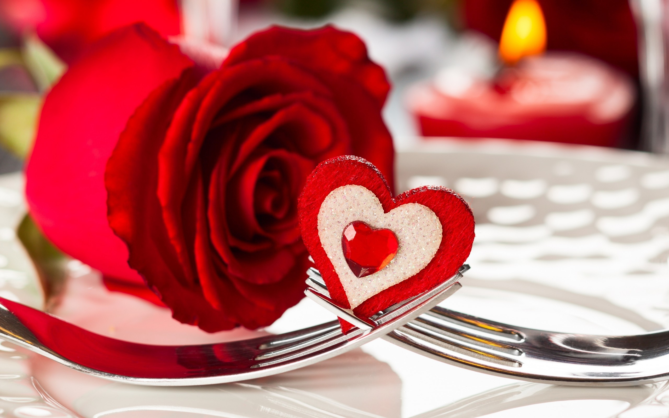 Red Rose Heart Wallpaper