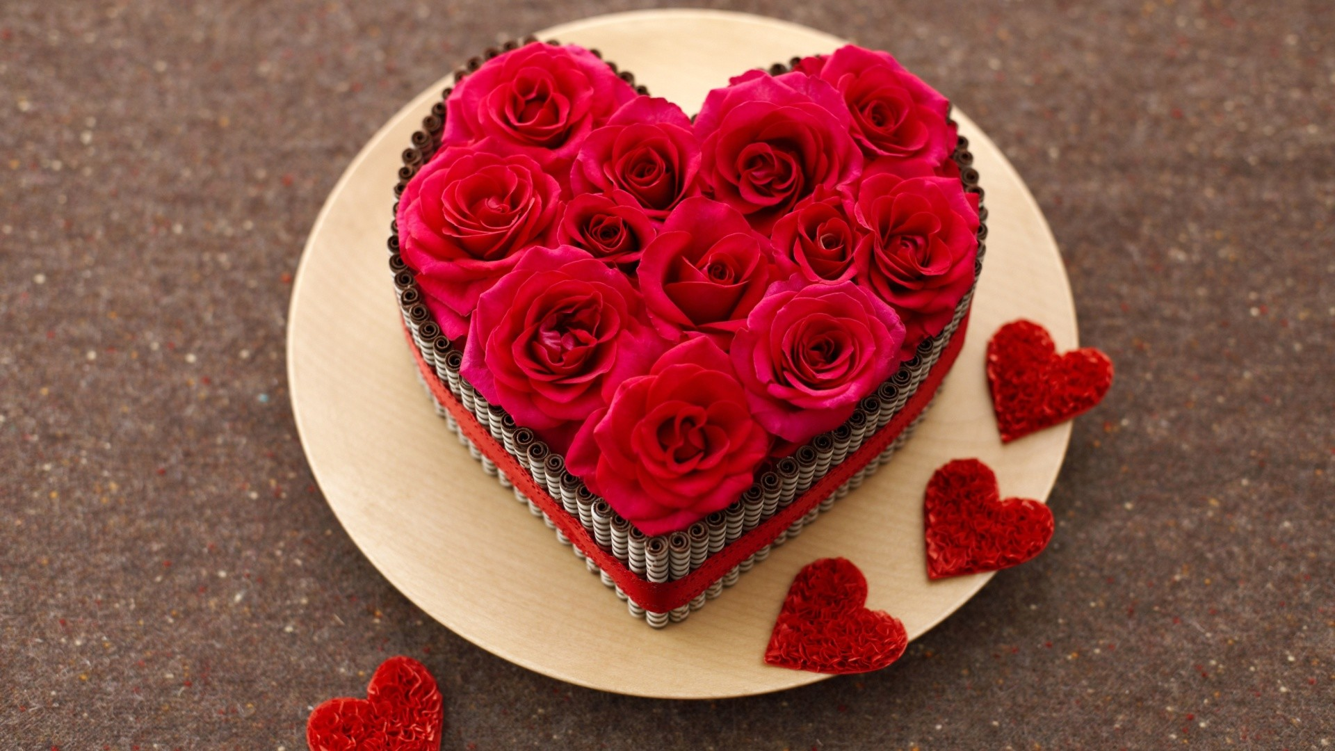 Red Roses Heart free android wallpaper