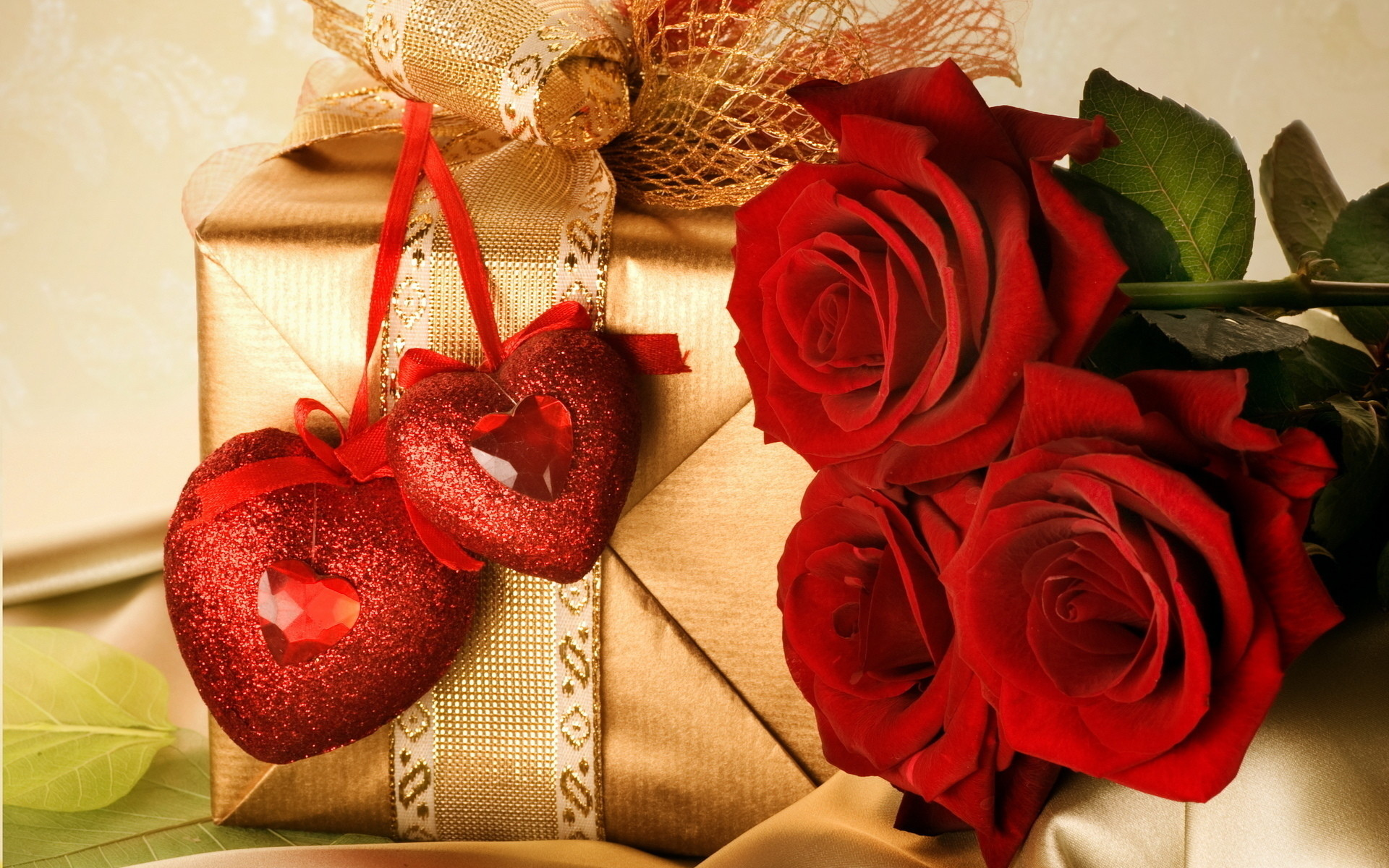 Heart Red Rose Photo Valentine's Day Wallpaper Background