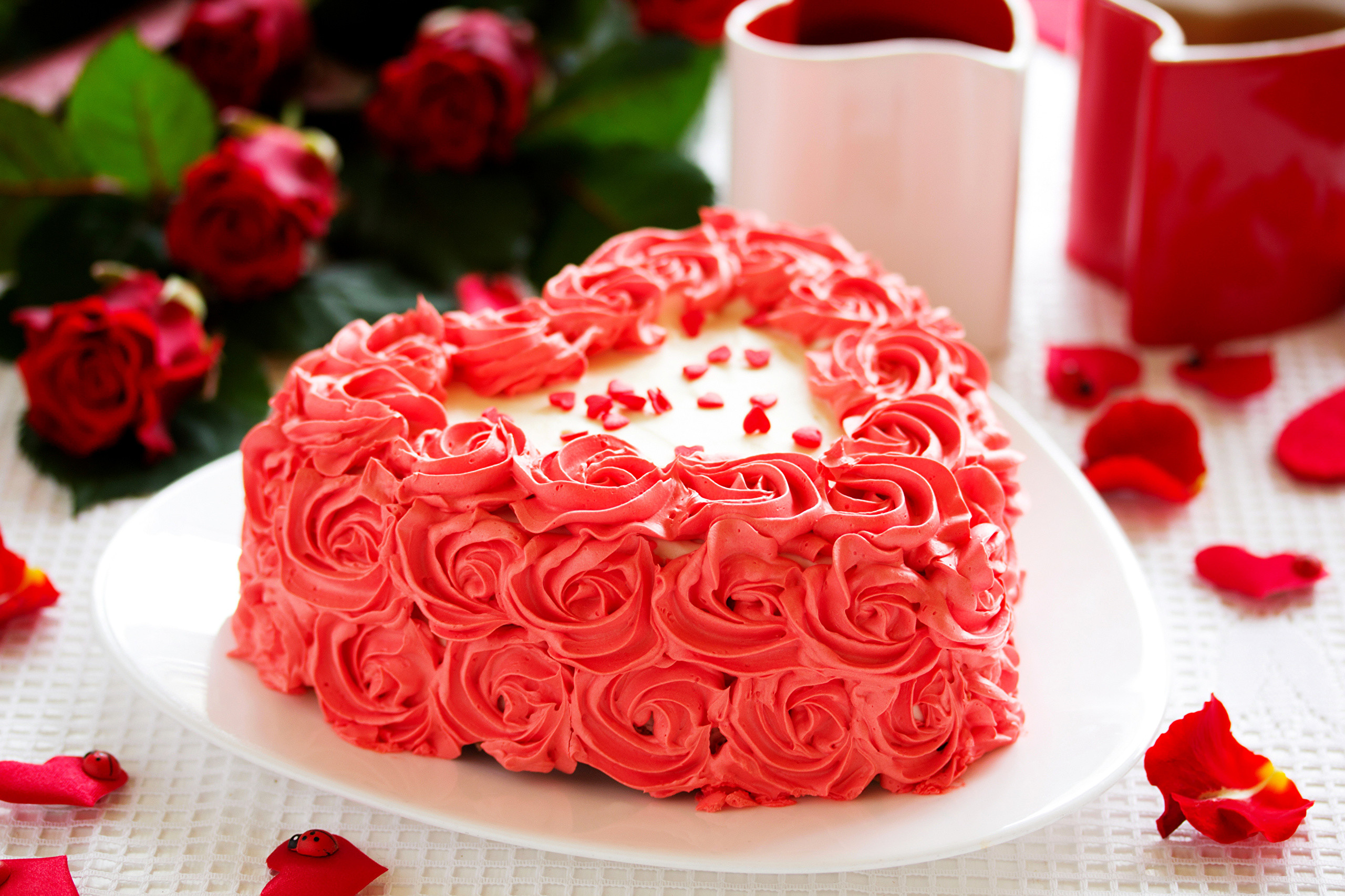 sweets cakes roses heart love