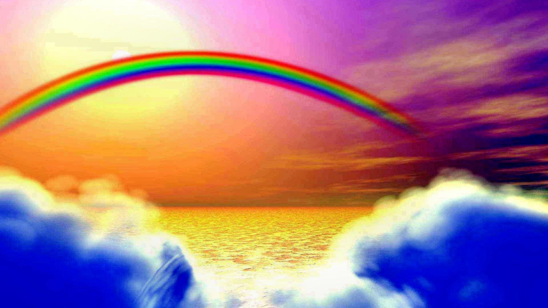 #CC7722 Color – Rainbow Sky Clouds Nature Wallpaper for HD 16:9 High  Definition