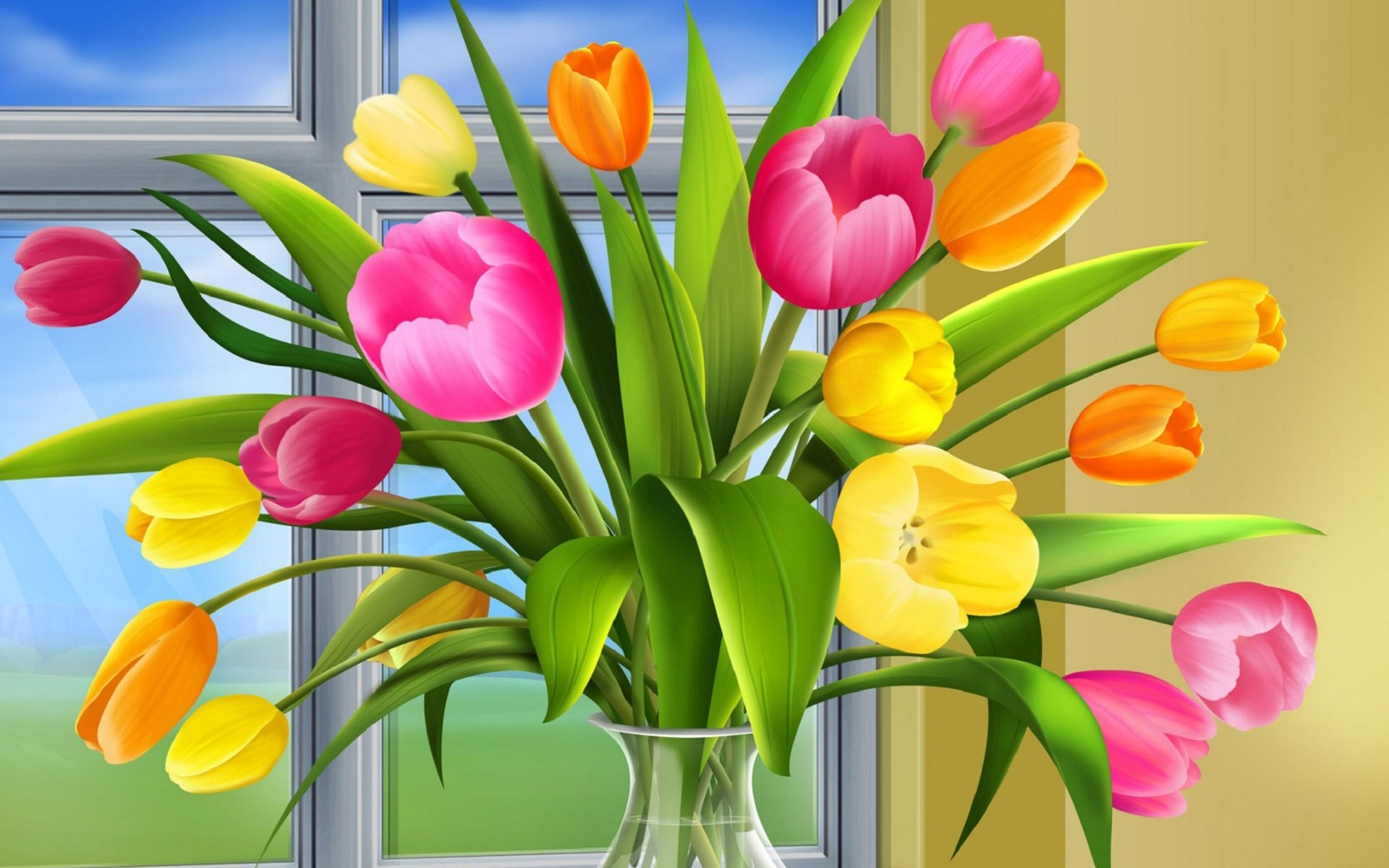 Prev Image Colorful Tulips images