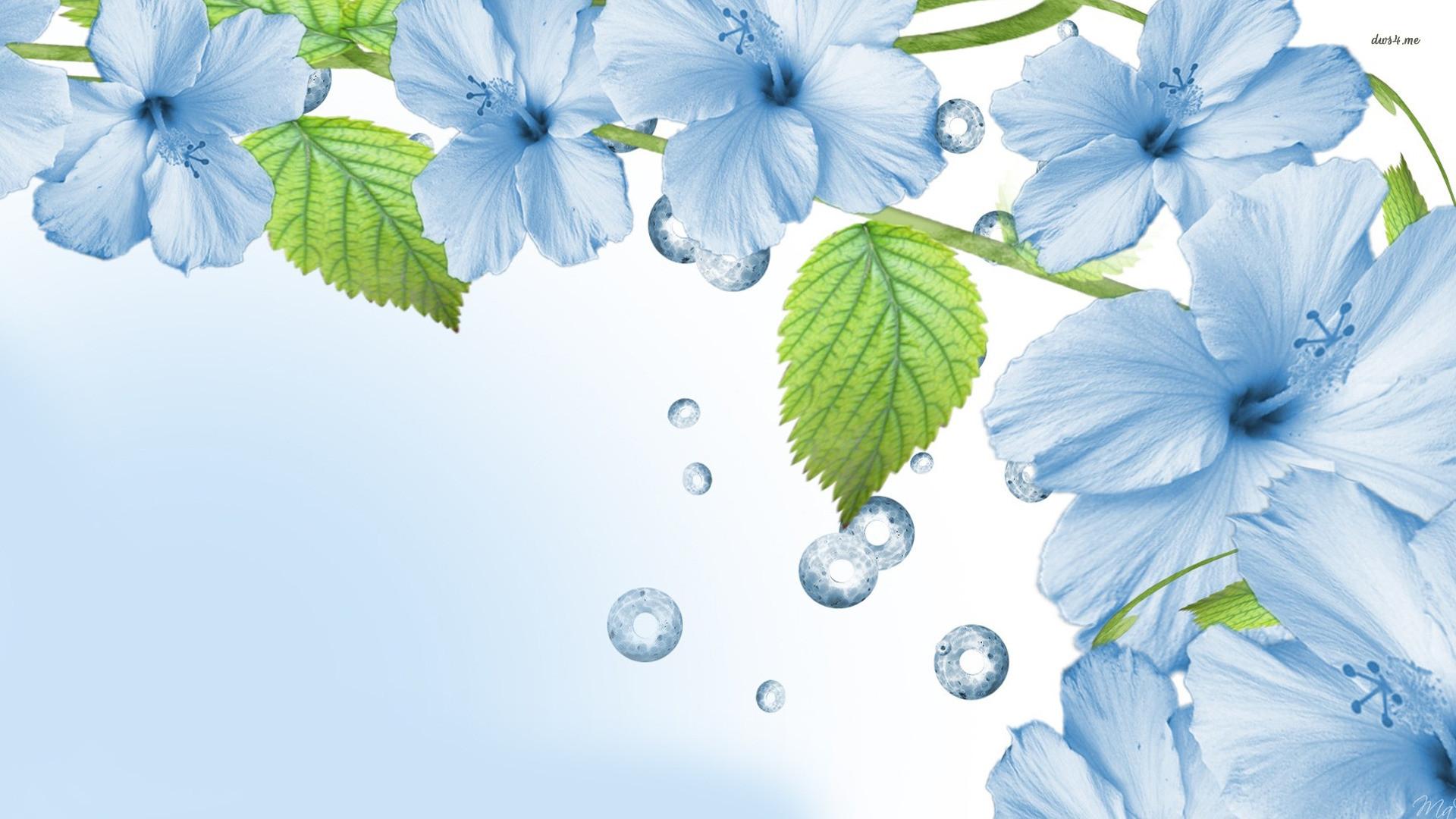 Blue Flowers Wallpaper HD