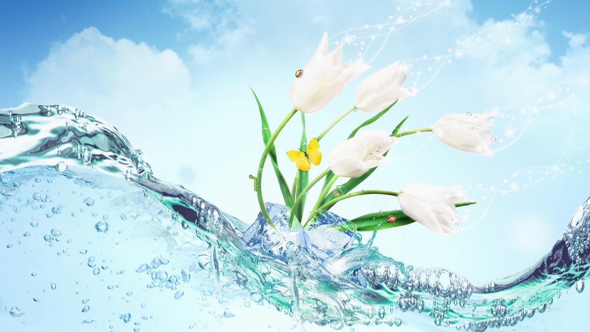 8. teal-flowers-wallpaper8-600×338