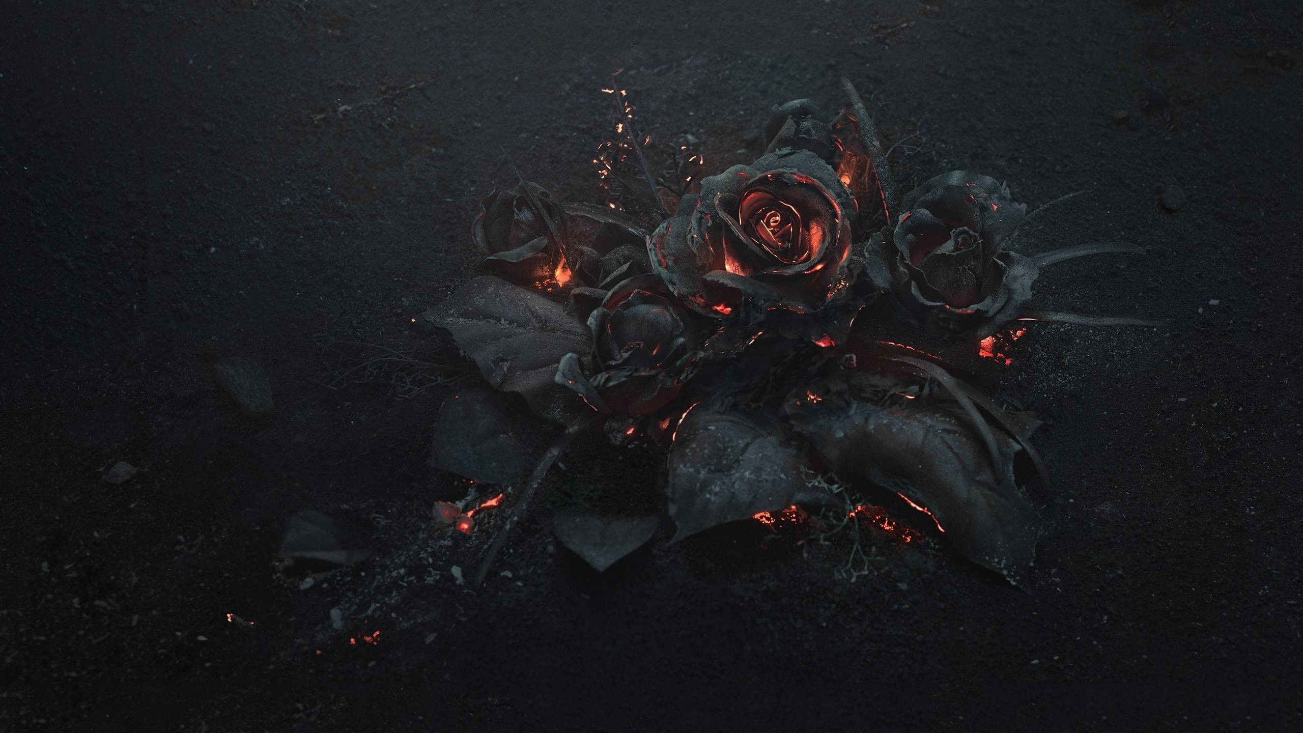 General flowers rose fire Gothic