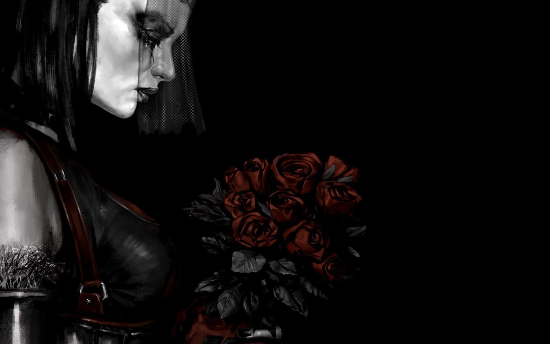 Video Game – Batman: Arkham City Bride Death Red Rose Wallpaper