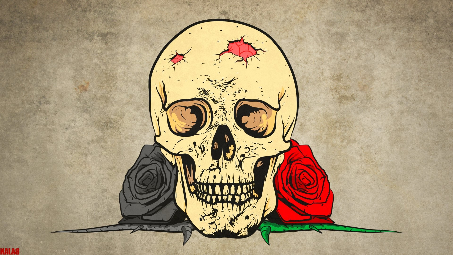 Dark – Skull Fantasy Gothic Rose Wallpaper