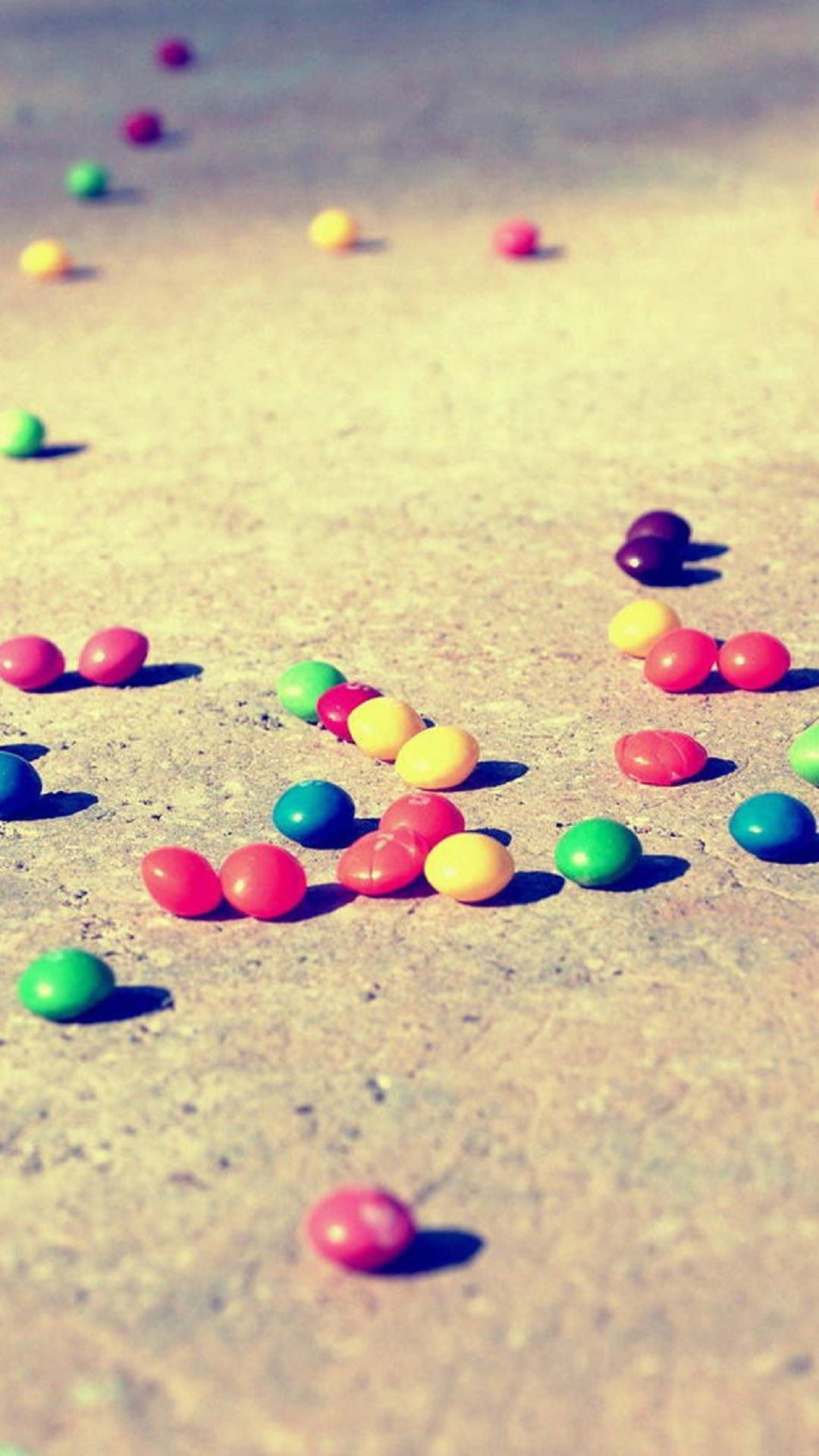 Blurred Candies on the Ground Colorful M&M's. Wallpapers …