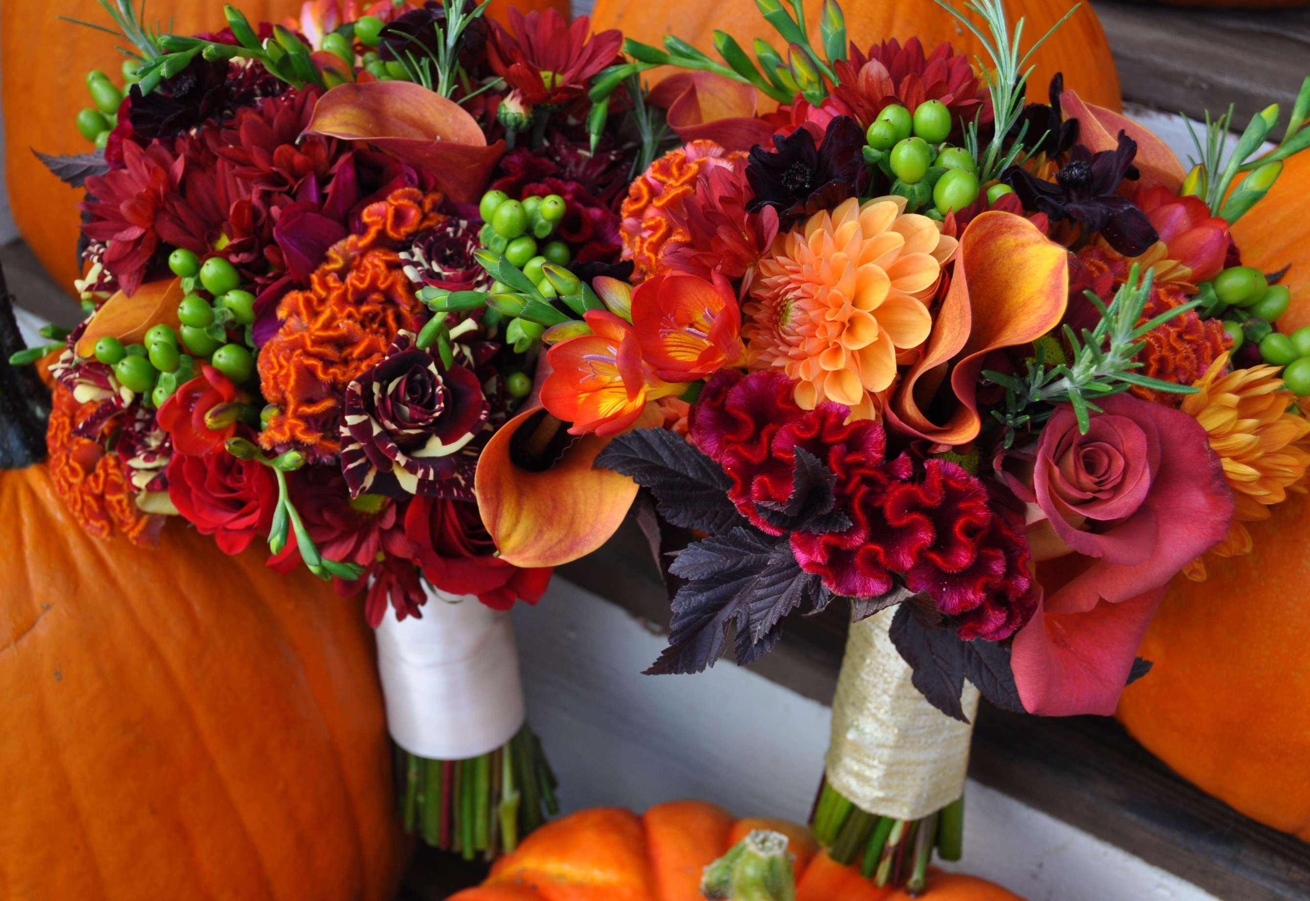 Fall wedding colors country bouquets desktop wallpapers.