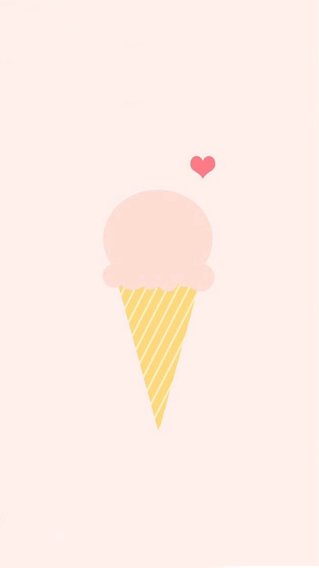 Ice Cream Love Pink Illustration #iPhone #6 #plus #wallpaper