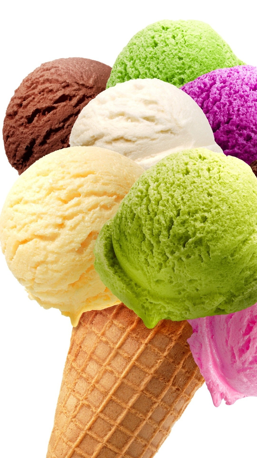 Click here to download Colorful Ice Cream Cone Dessert Android Wallpaper  Resolution pixel