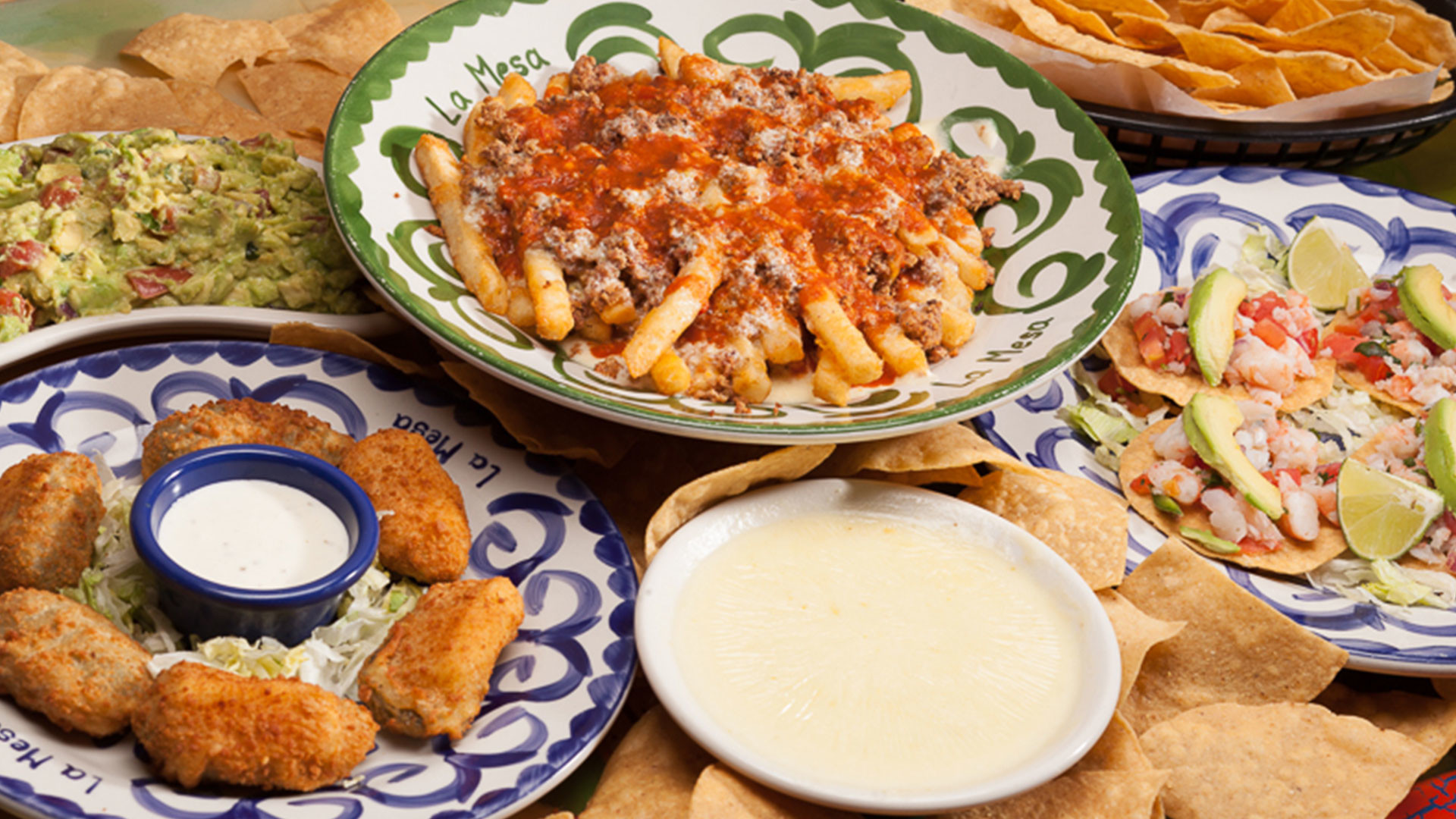 Appetizers from La Mesa Mexican Restaurant