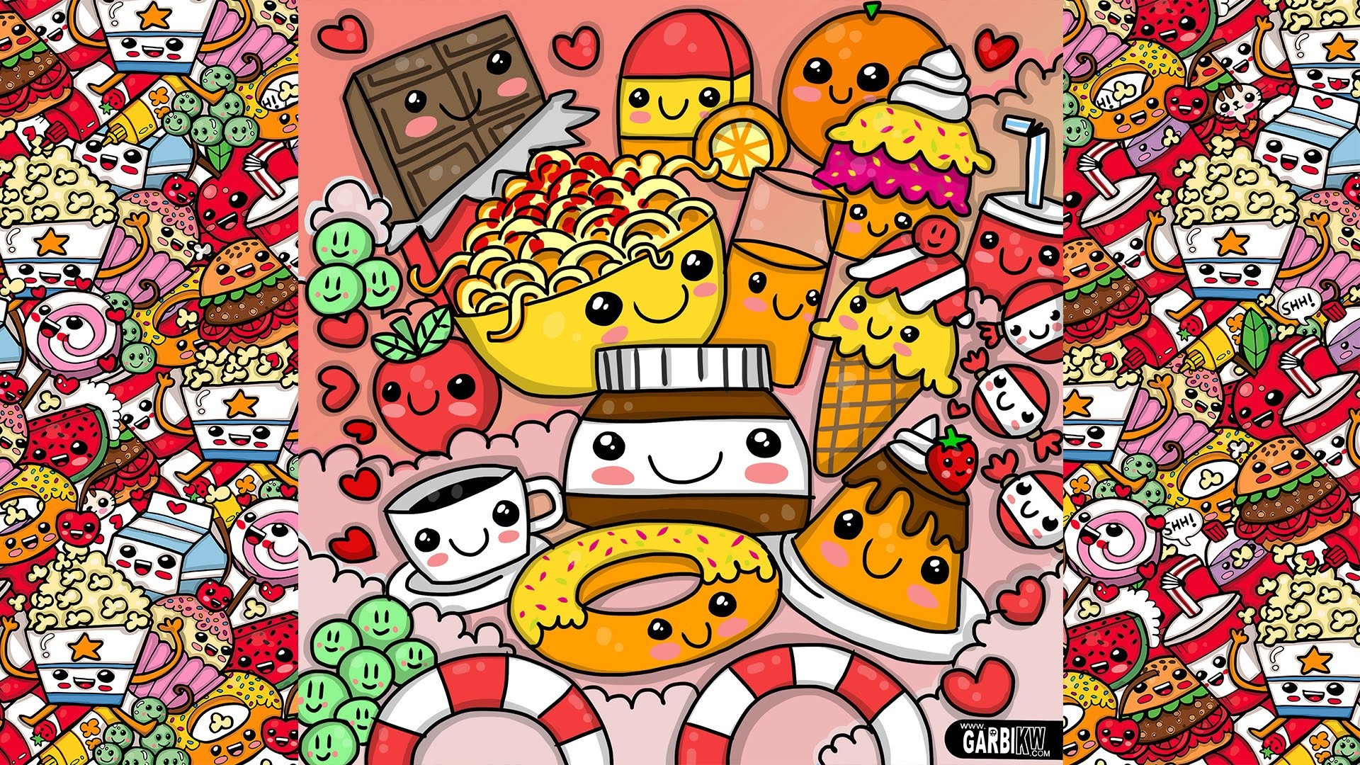 How To Draw Party Kawaii Food by Garbi KW